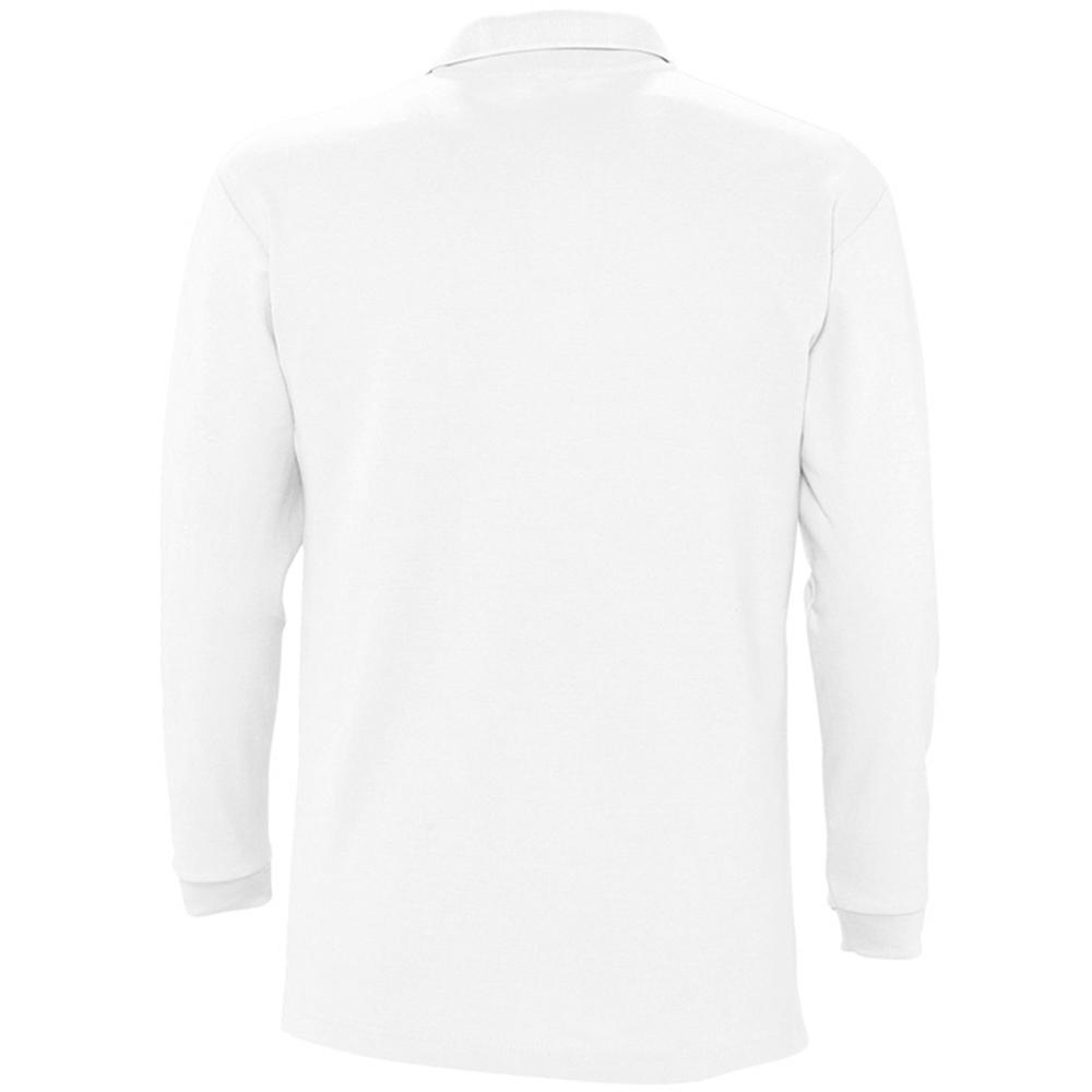 Sols Mens Winter Ii Long Sleeve Pique Cotton Polo Shirt In