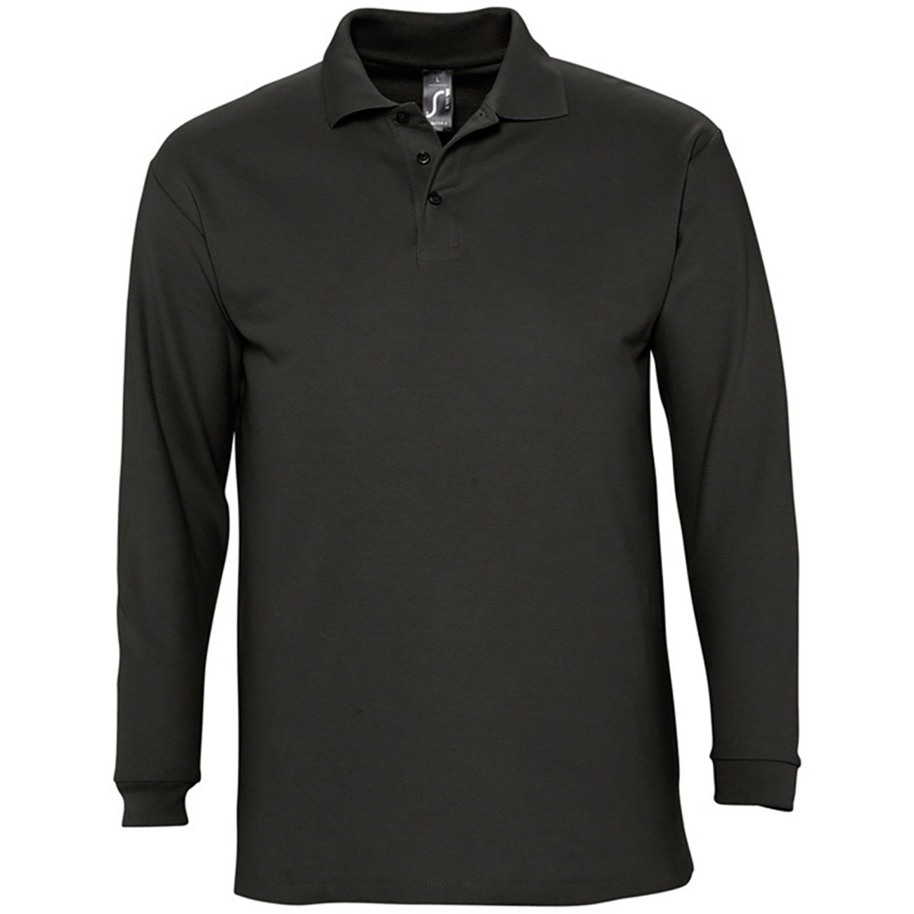 Sols mens winter ii long sleeve pique cotton polo shirt in for Men s lightweight long sleeve polo shirts