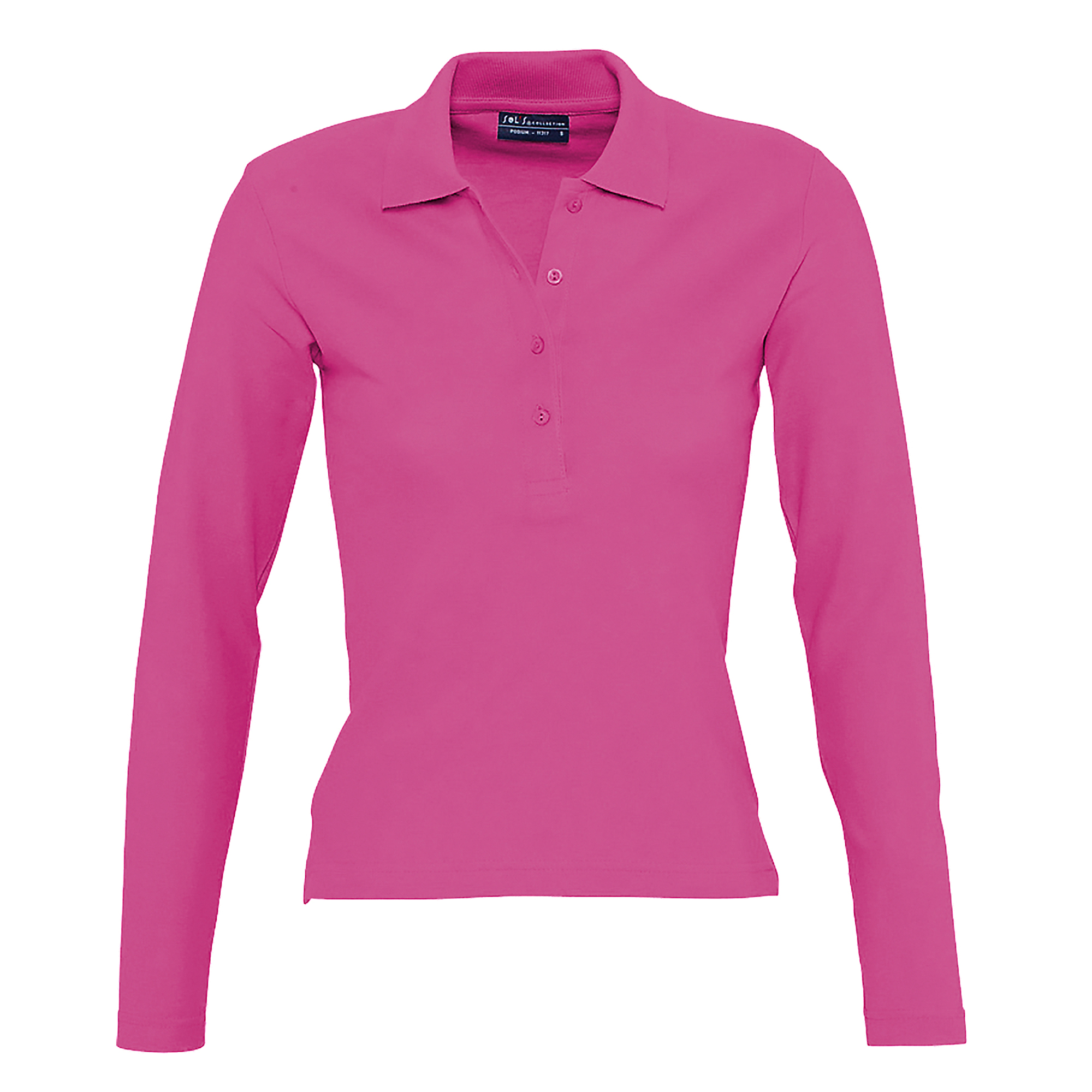 Sols Womens Ladies Podium Long Sleeve Pique Cotton Polo