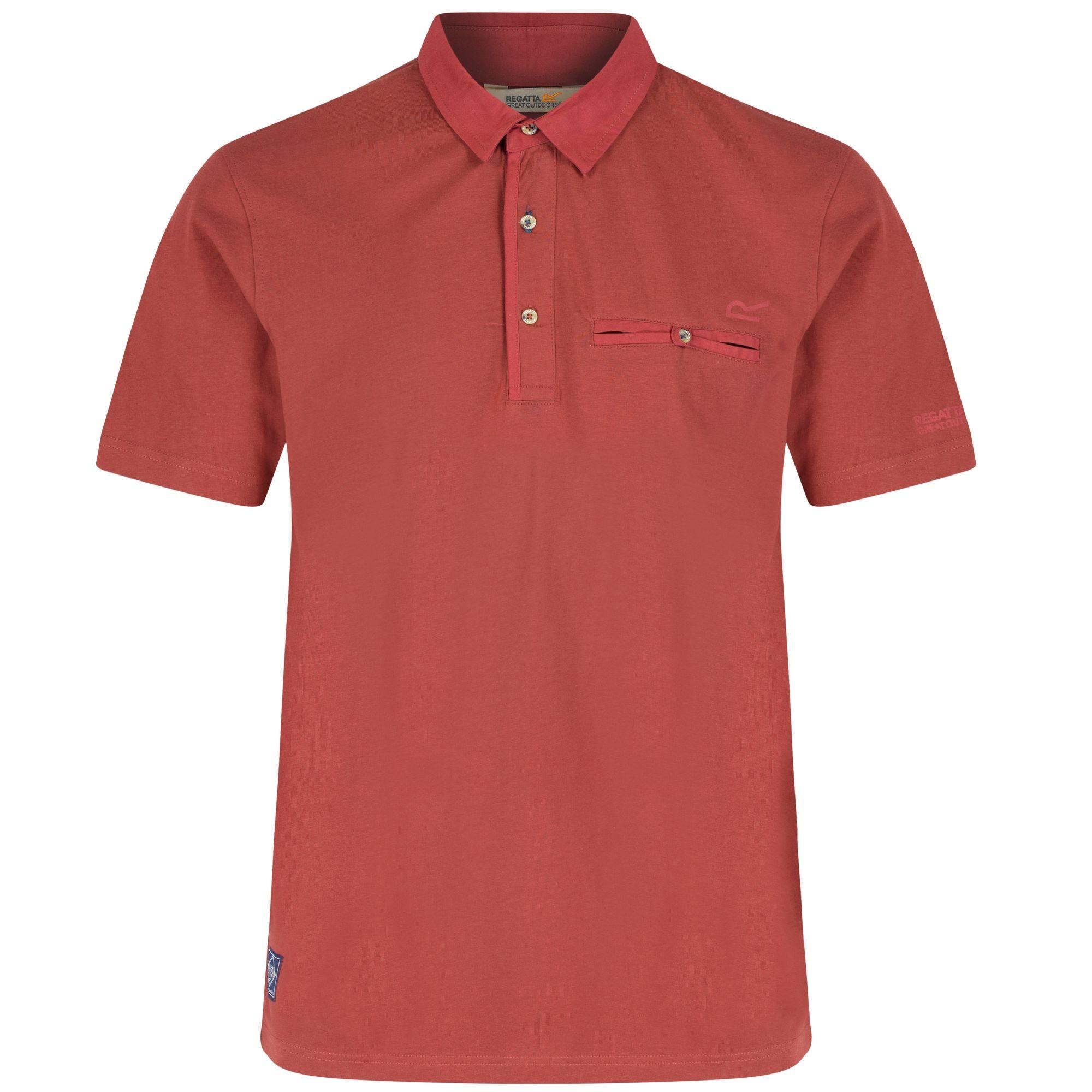 Regatta Great Outdoors Mens Balius Short Sleeve Polo Shirt ...