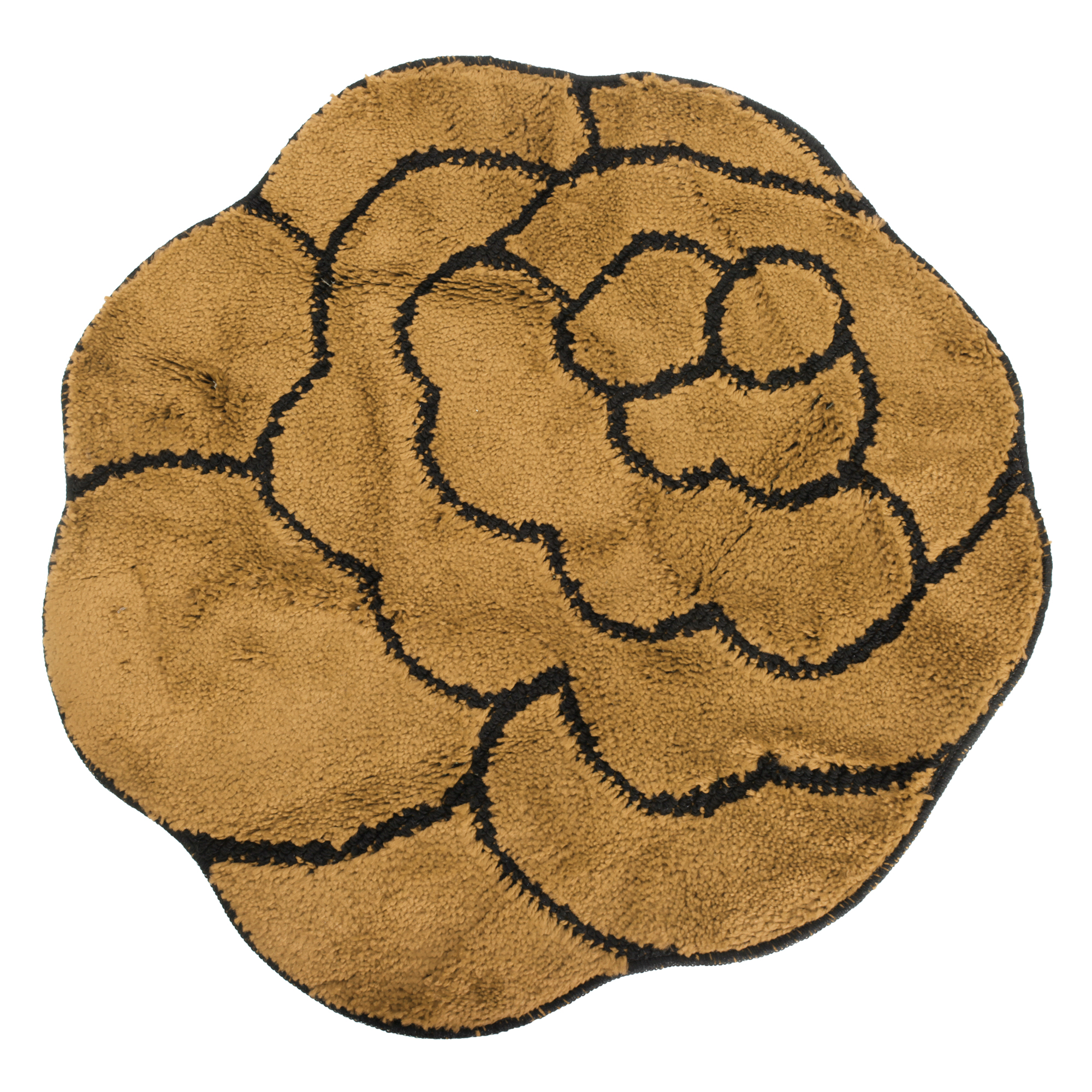 Non-Slip Striped Flower Shaped Area Mat/Rug (3 Colors)