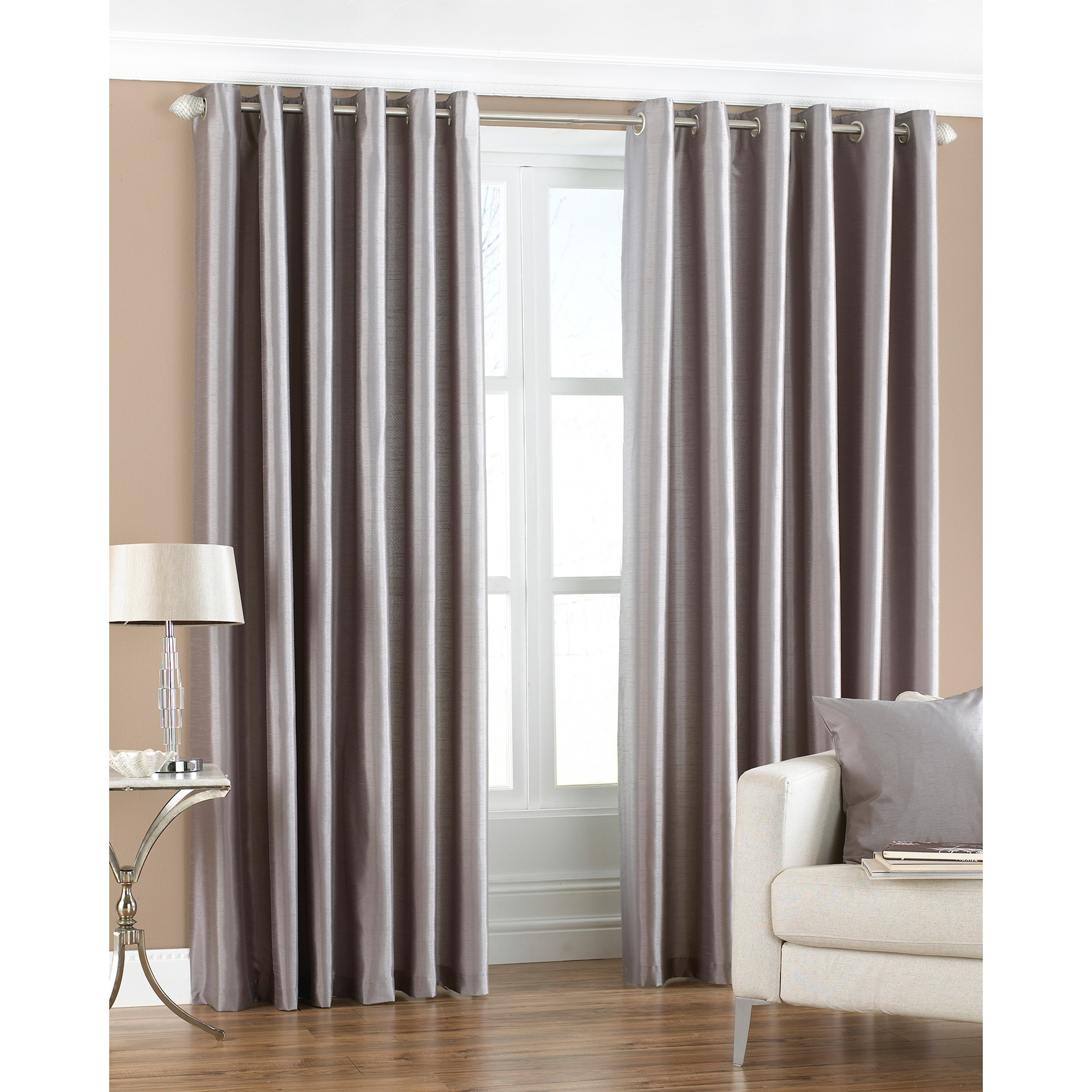 Riva home cortinas de anillas modelo fiji faux silk ebay for Anillas de cortinas