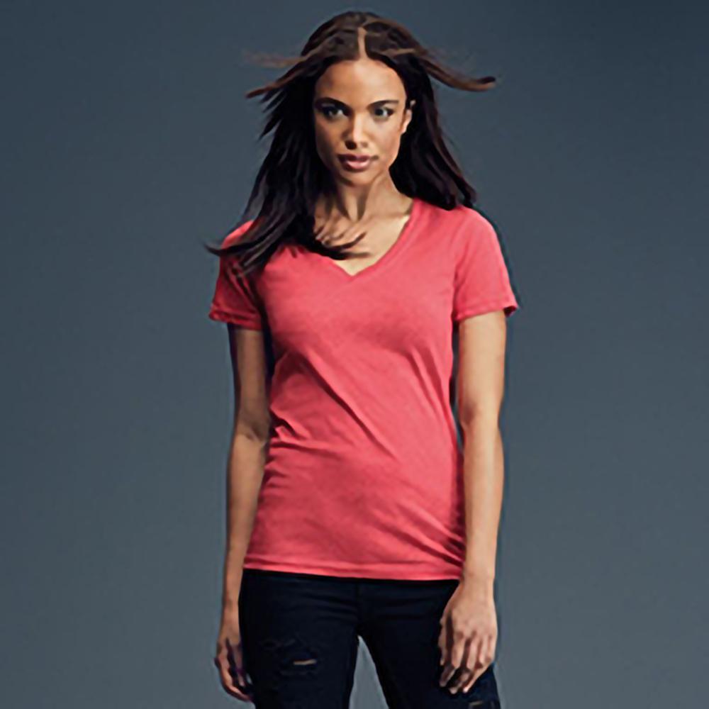 anvil womens sheer v neck tee tshirt ebay