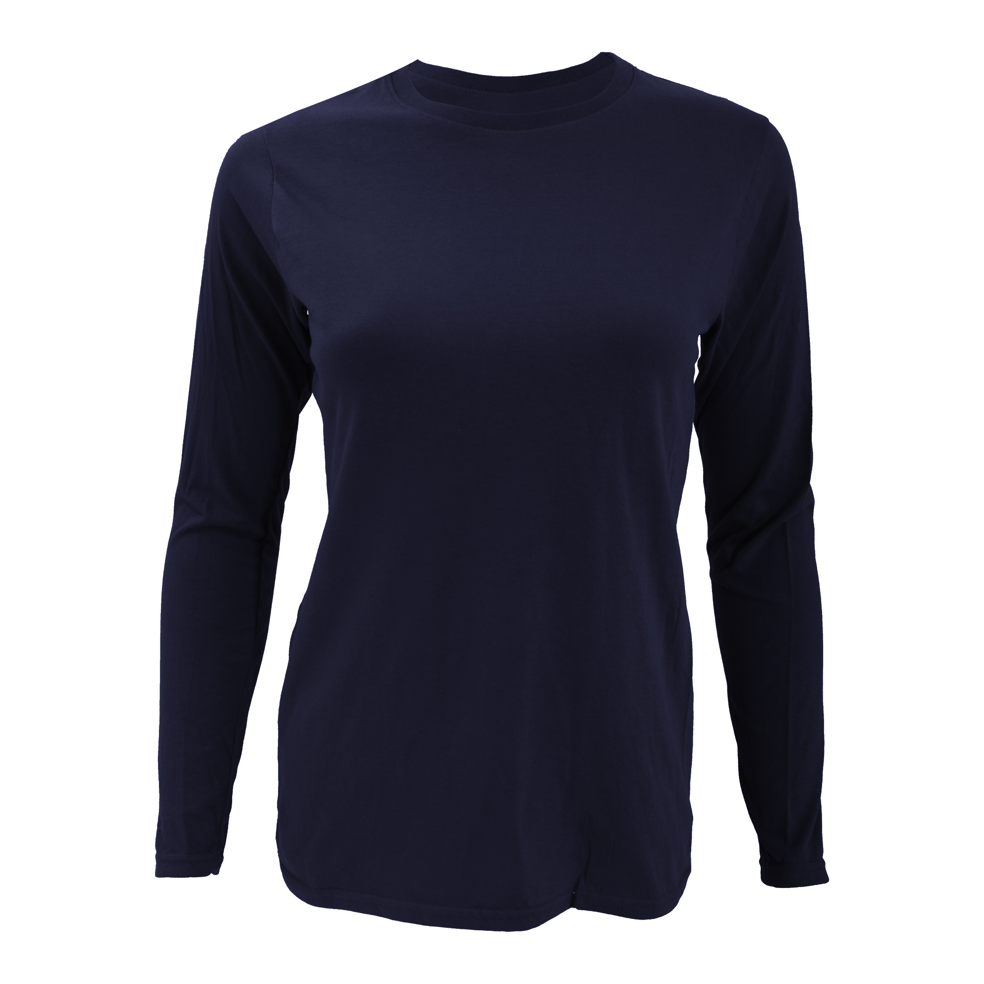 Anvil womens ladies fashion plain fitted long sleeve t for Ladies long sleeve shirt
