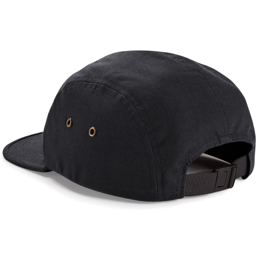 Pretty much on par with any name-brand 5 panel hats you'll find out on the market. I bought this to replace an Obey 5 panel hat and I find this one to be of equal quality. It keeps it's shape and doesn't slouch in like some five panel hats with less sturdy panels.