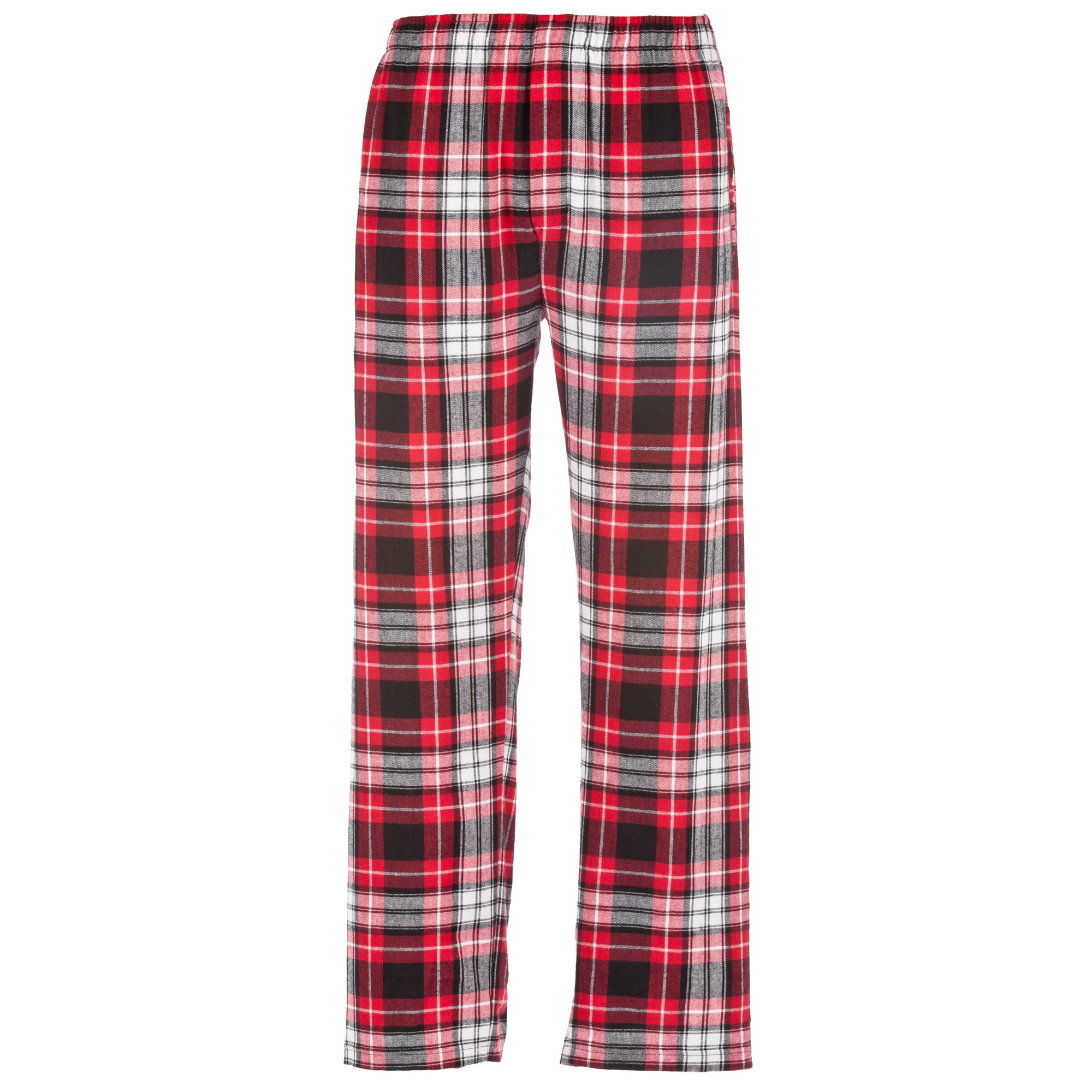 These soft and comfortable flannel pajamas have a classic notched collar, button-front top and patch pocket. The easy-fitting bottoms have an elasticized drawstring waist and button fly/5(98).