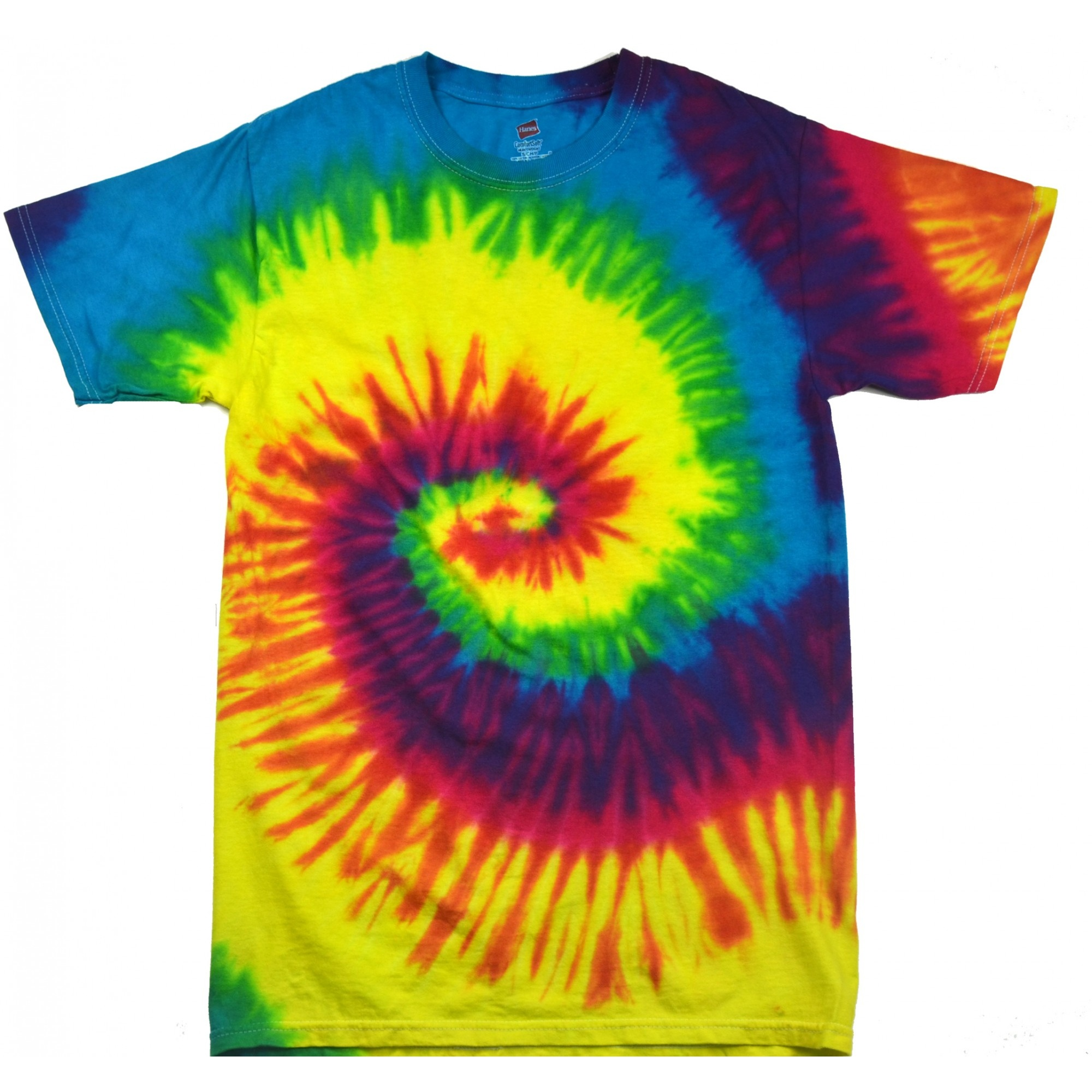 Colortone Womens Ladies Rainbow Tie Dye Short Sleeve