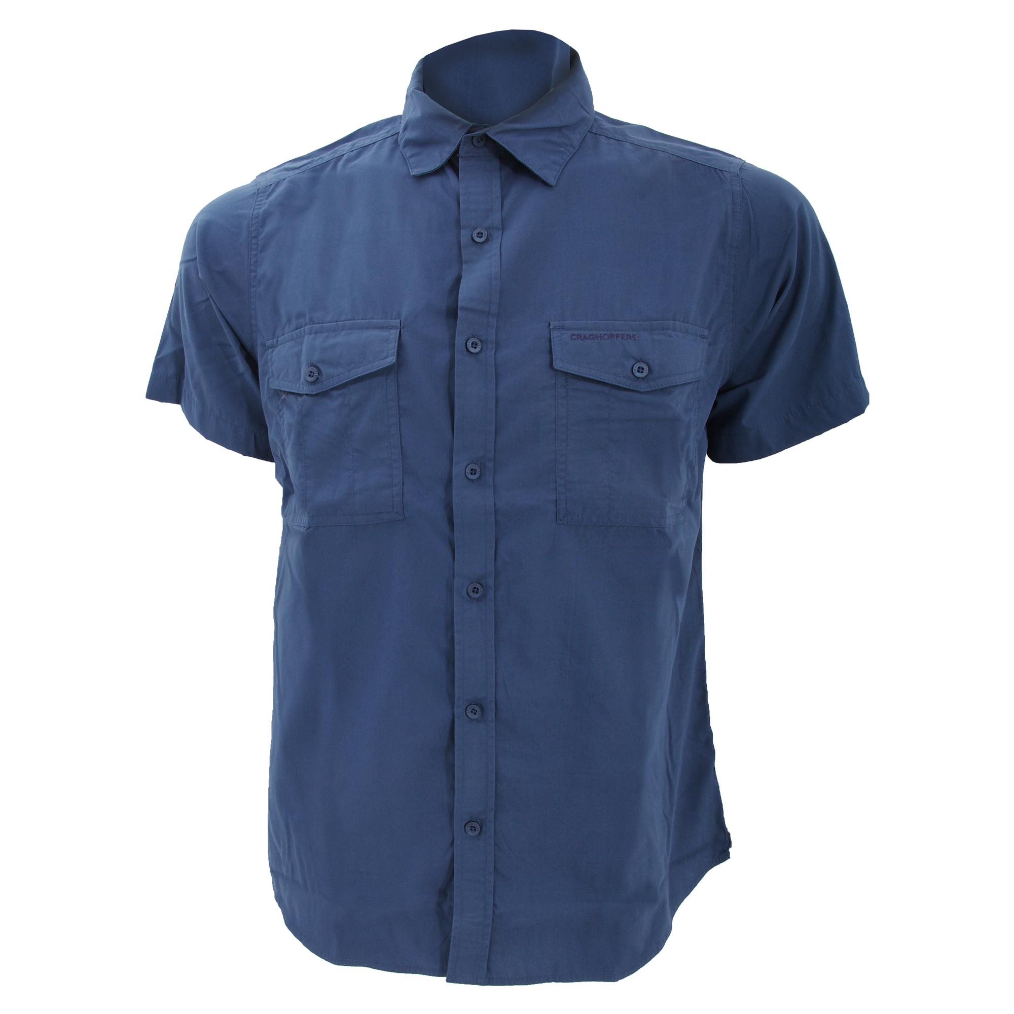 Craghoppers mens kiwi short sleeve casual shirt ebay for Short sleeve casual shirt