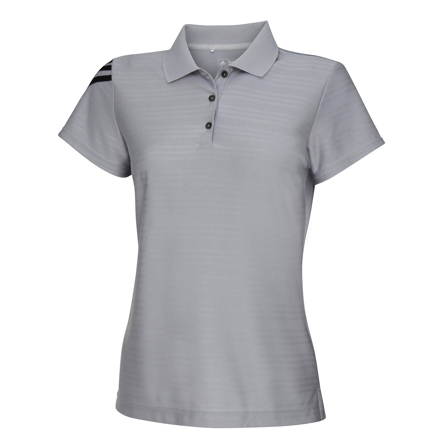 Adidas Womens Ladies Corporate 3 Stripe Short Sleeve Polo