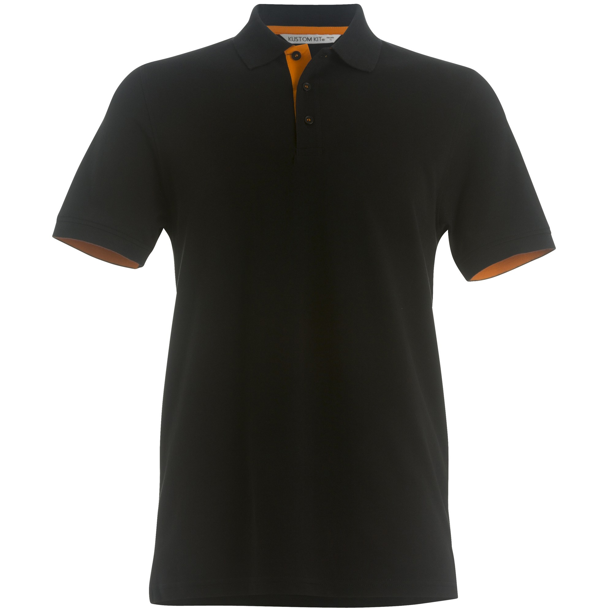 Kustom kit mens club style slim fit polo shirt ebay for Mens slim polo shirts