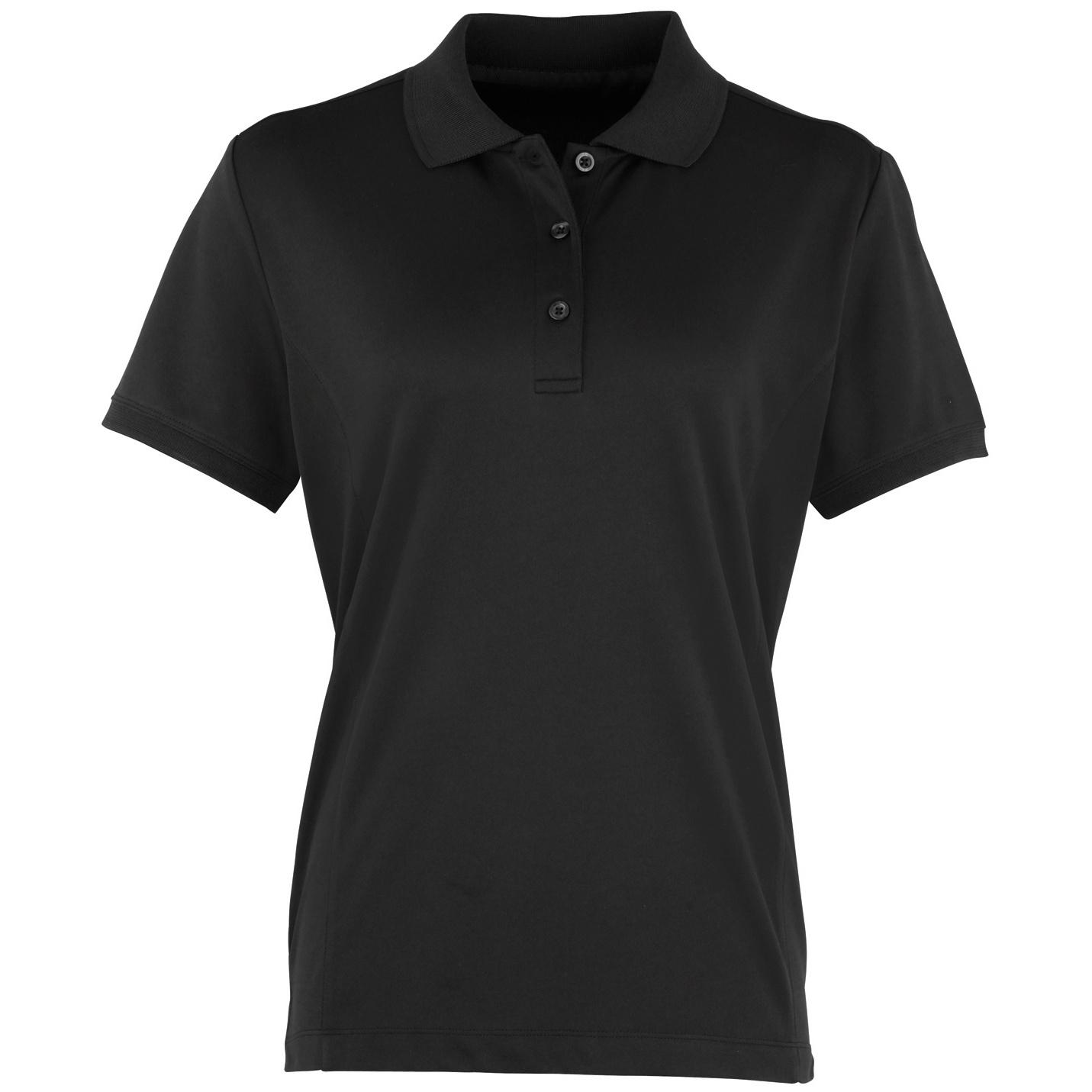 Premier womens ladies coolchecker short sleeve pique polo for Short sleeve shirt for women