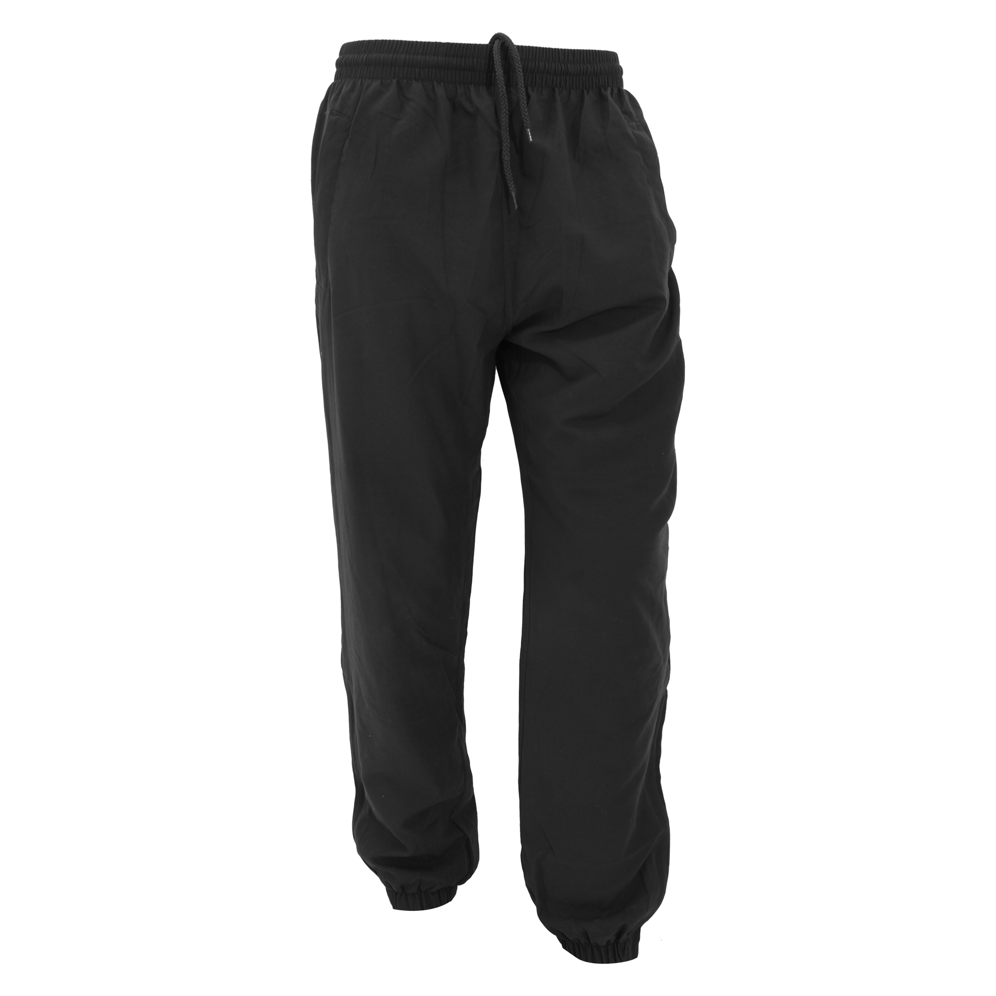 adidas 3 Stripe Cuffed Black Track Pants