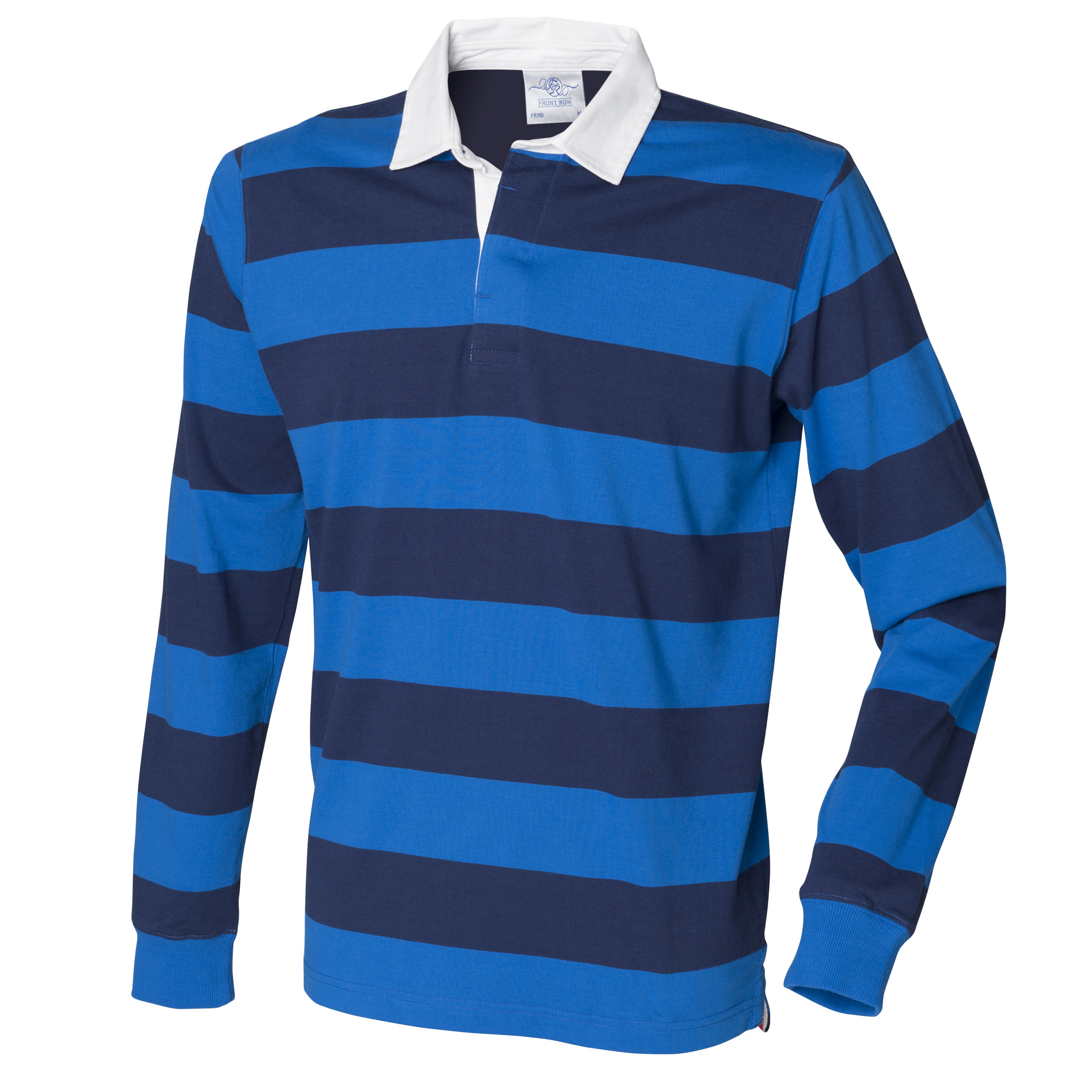 Front row mens striped sports rugby long sleeve cotton for Long sleeve striped rugby shirt