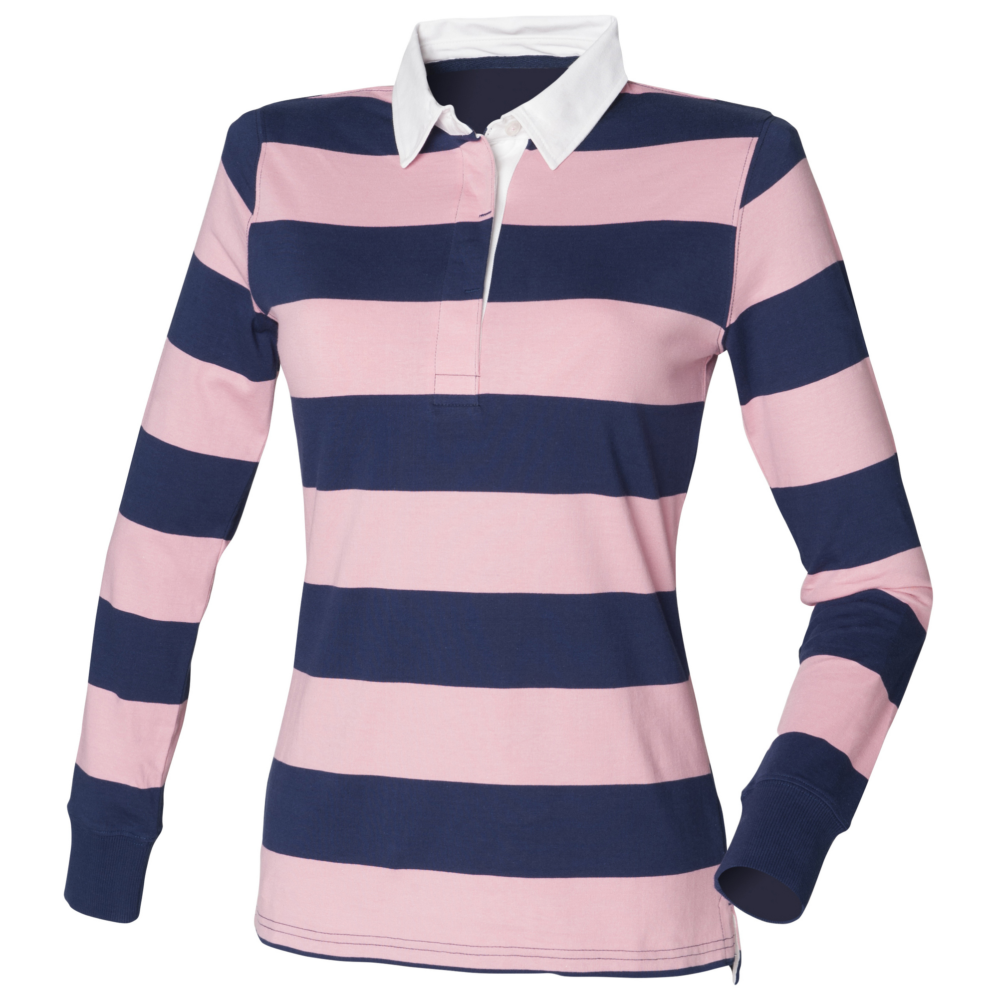 Front Row Womens Ladies Striped Rugby Polo Shirt Ebay