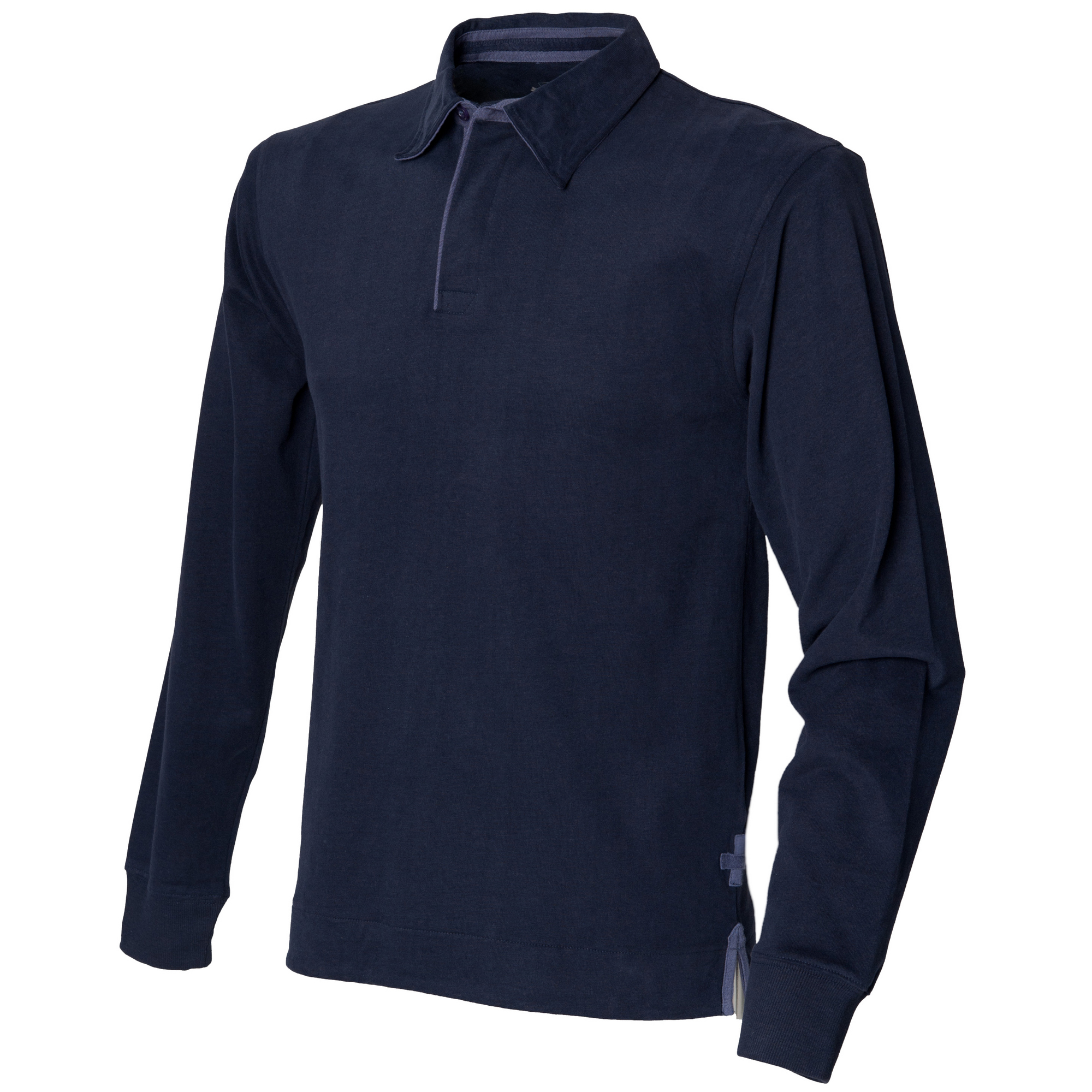 Front Row Mens Super Soft Long Sleeve Rugby Cotton Polo