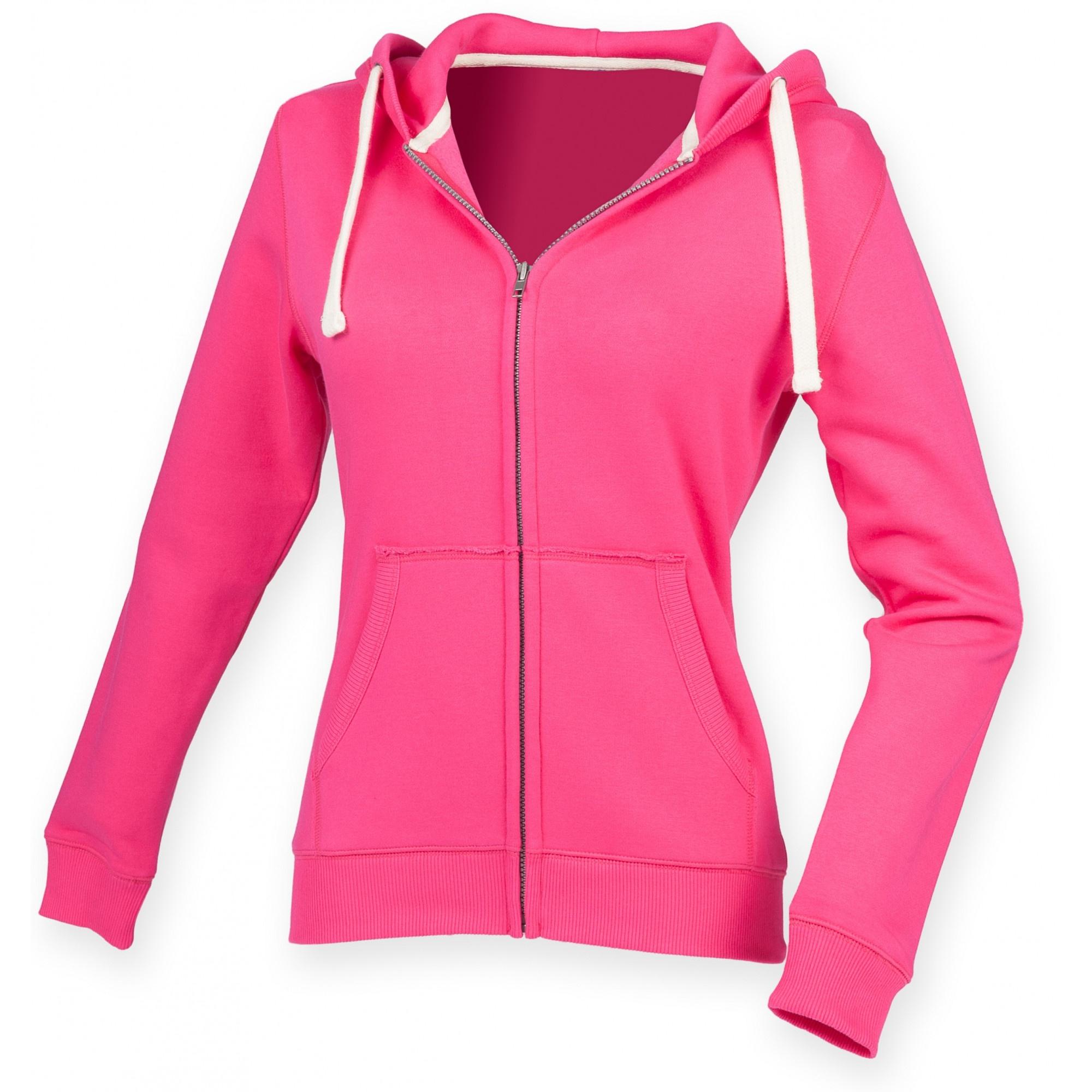 Front Row Womens/Ladies Zip Through Hooded Sweatshirt ...