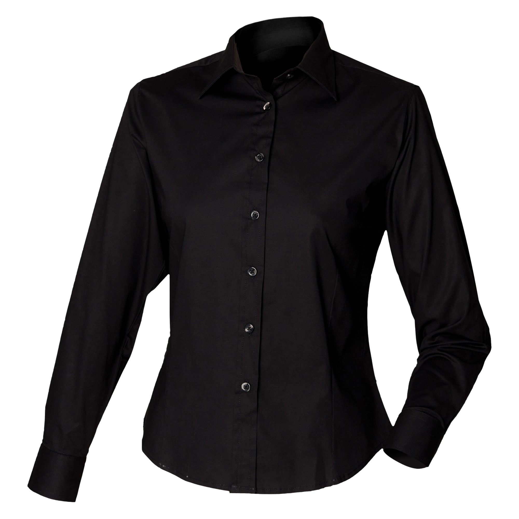 Henbury Womens Ladies Long Sleeve Fitted Work Shirt Ebay