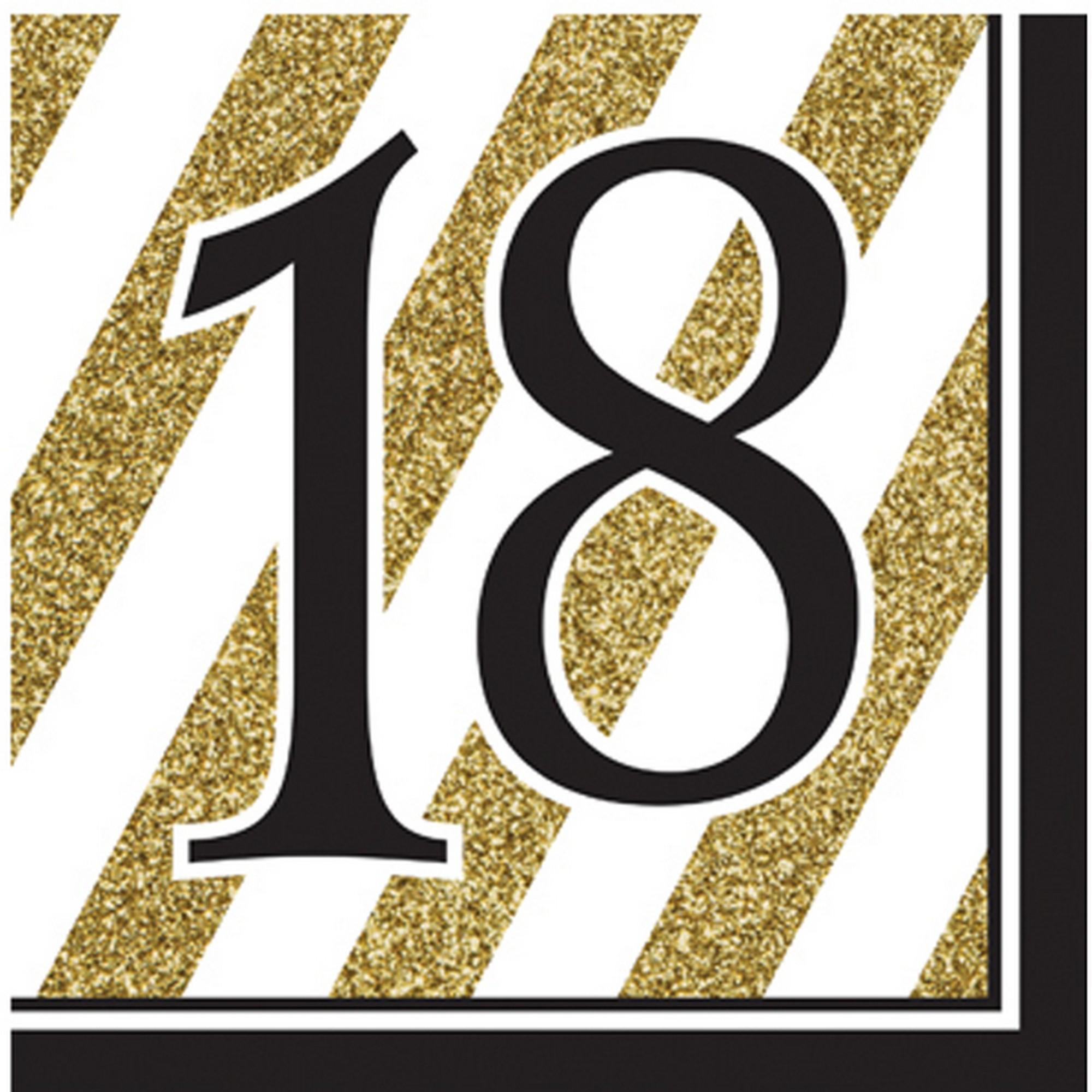 Creative-Converting-Tovaglioli-compleanno-oro-bianco-e-nero-confezione-da16