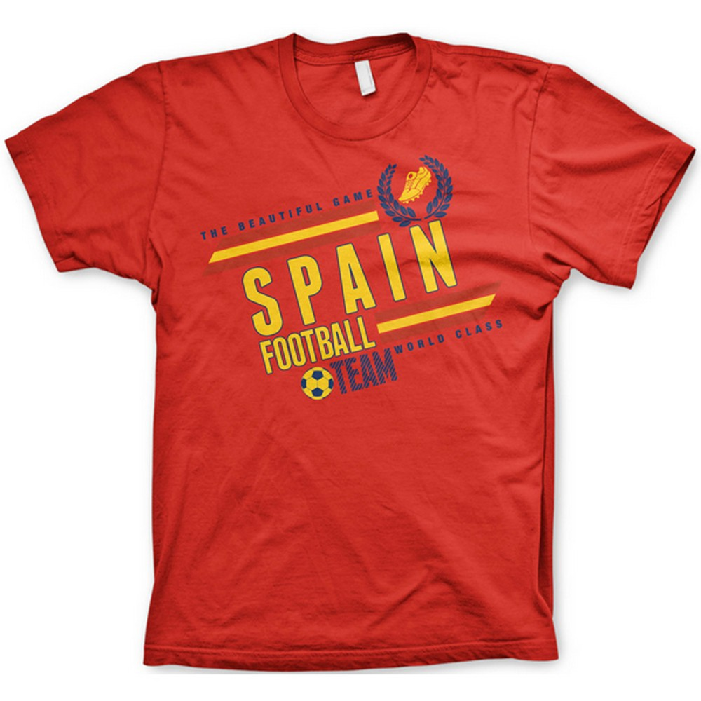 Mens short sleeve spain football design graphic sports t for Spain t shirt football