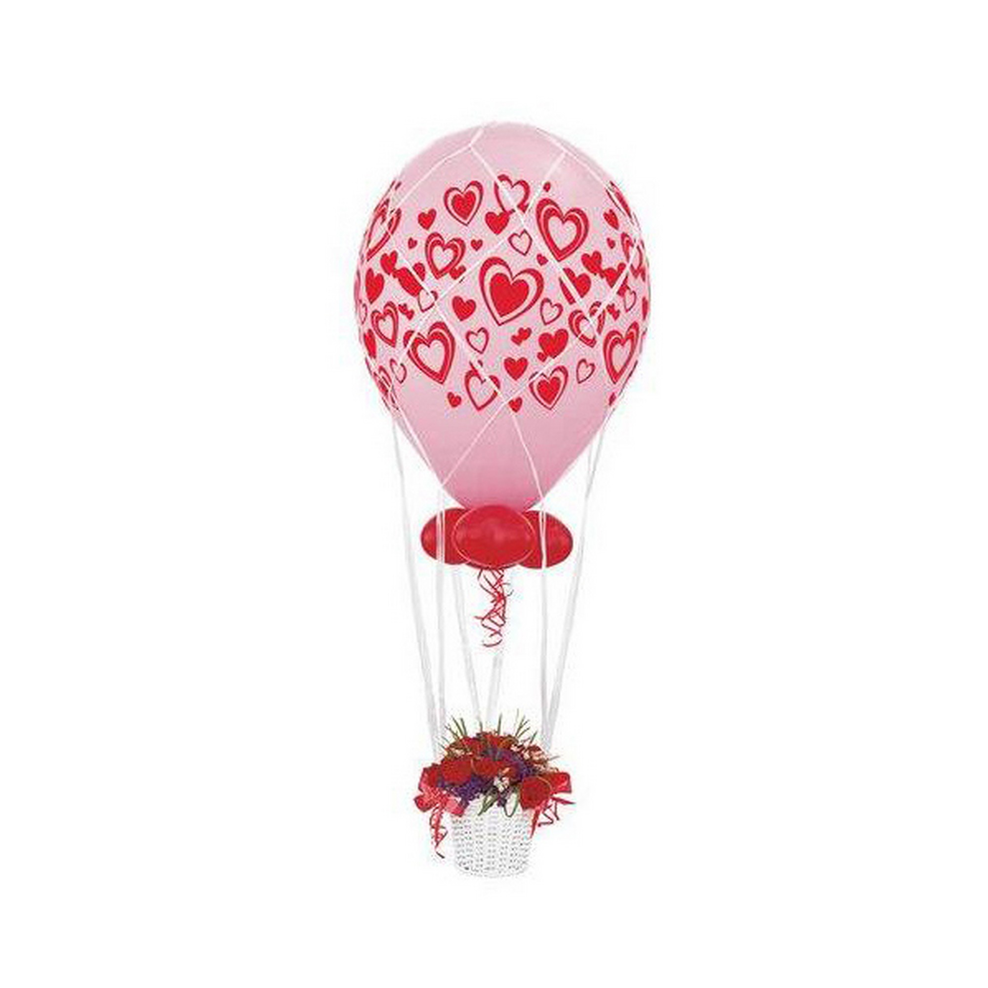 Qualatex white balloon centerpiece netting for Balloon nets for centerpieces