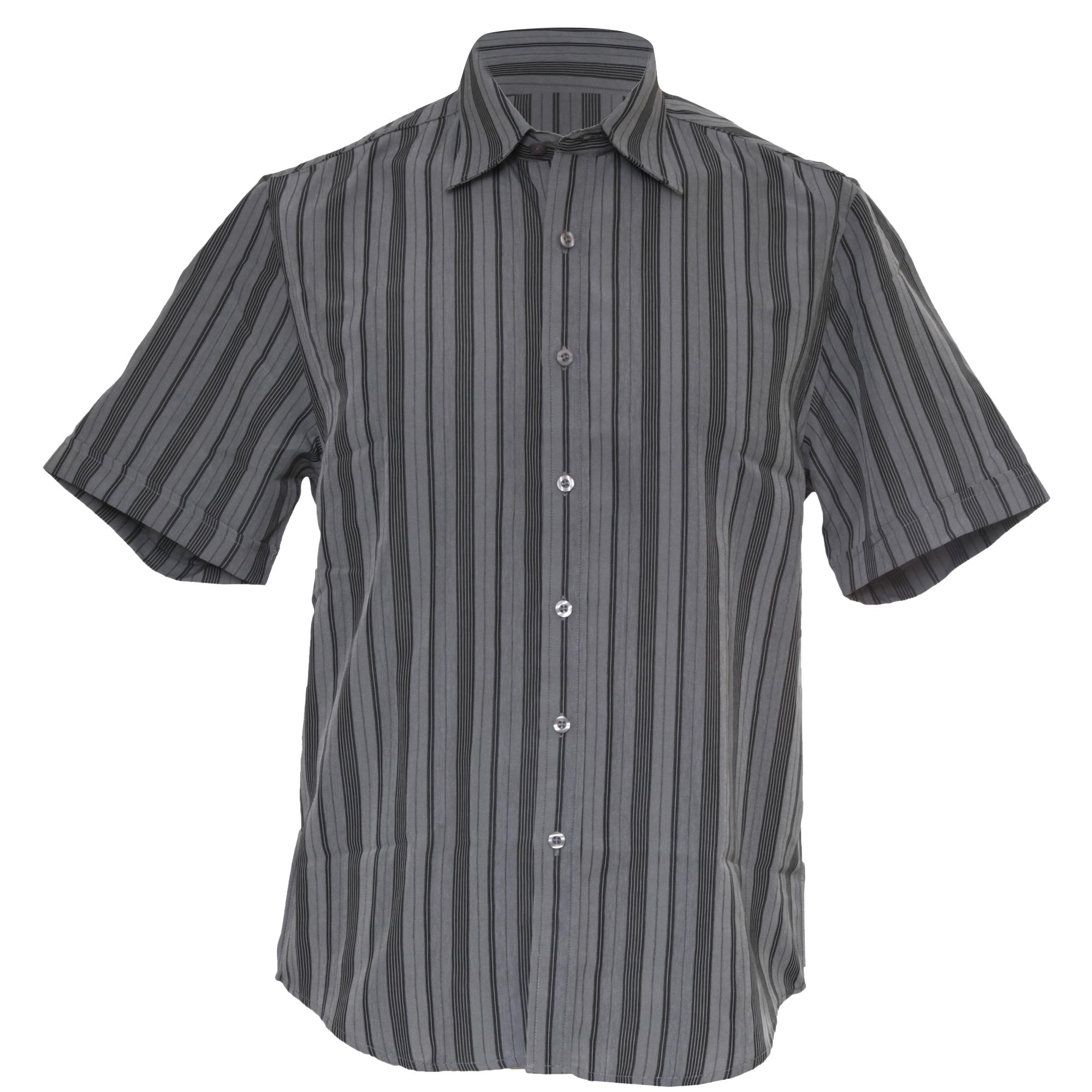 Ben smith mens short sleeve striped shirt ebay for Mens short sleeve patterned shirts