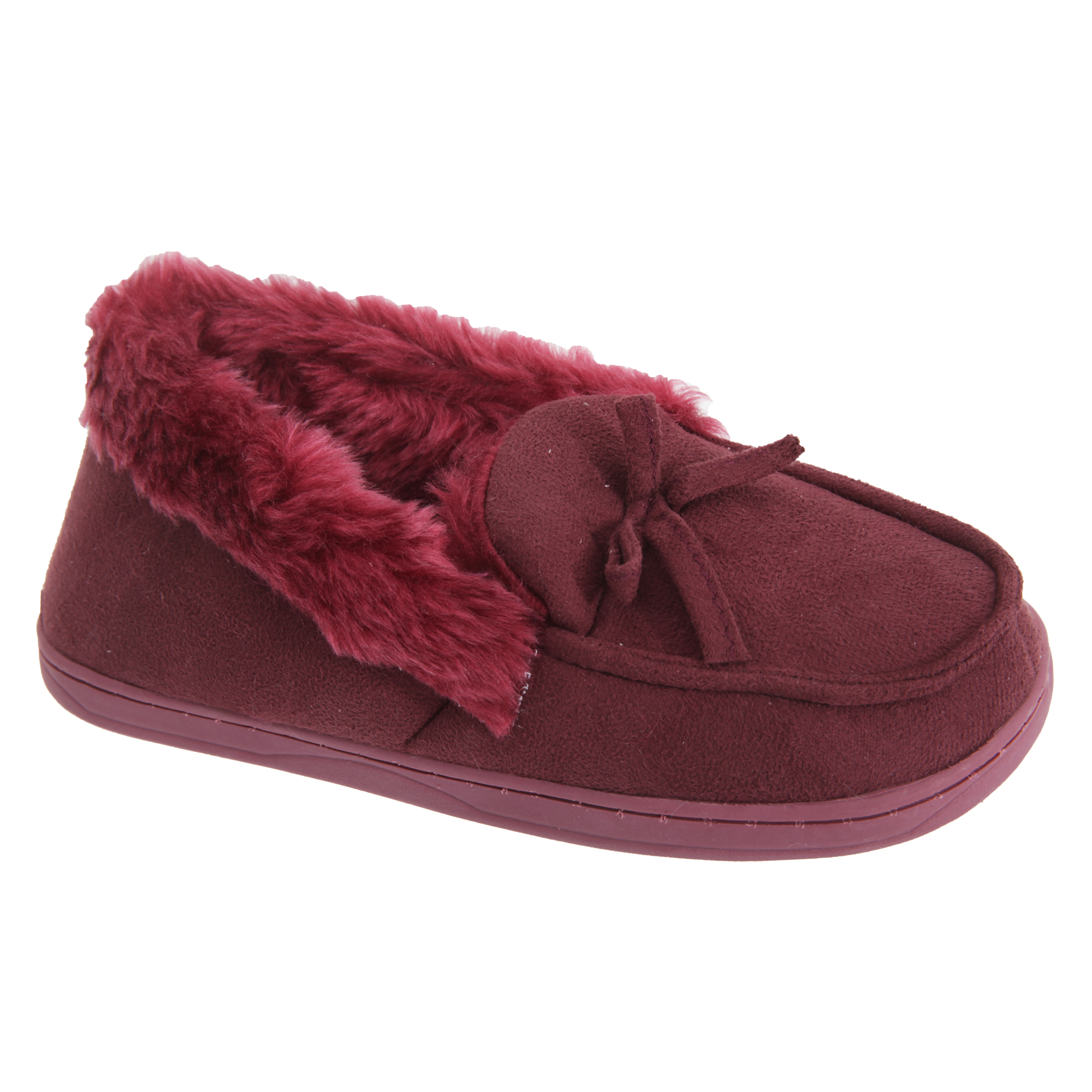 A cozy slipper is outfitted with supersoft faux-fur lining and a weatherproof sole with skid-resistant treads. It's machine washable, so you can toss it in the wash to freshen it up whenever you like Style Name:Acorn Chinchilla Faux Fur Slipper (Women).