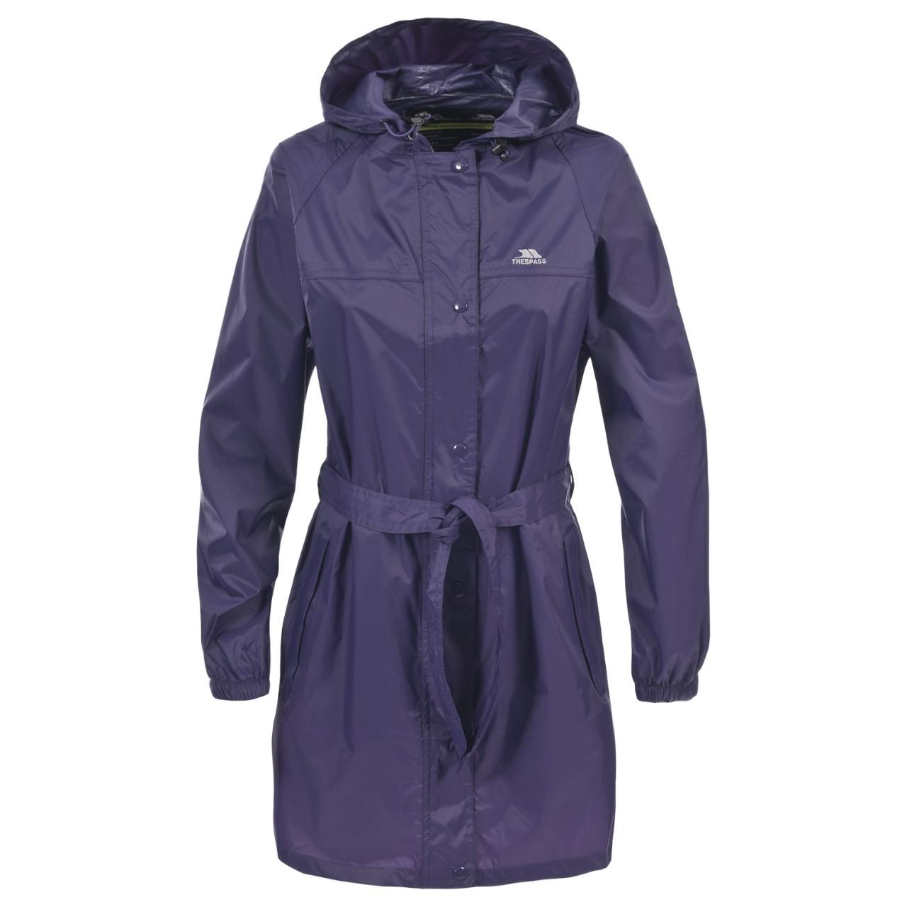 Trespass Womens Ladies Compac Mac Waterproof Hooded