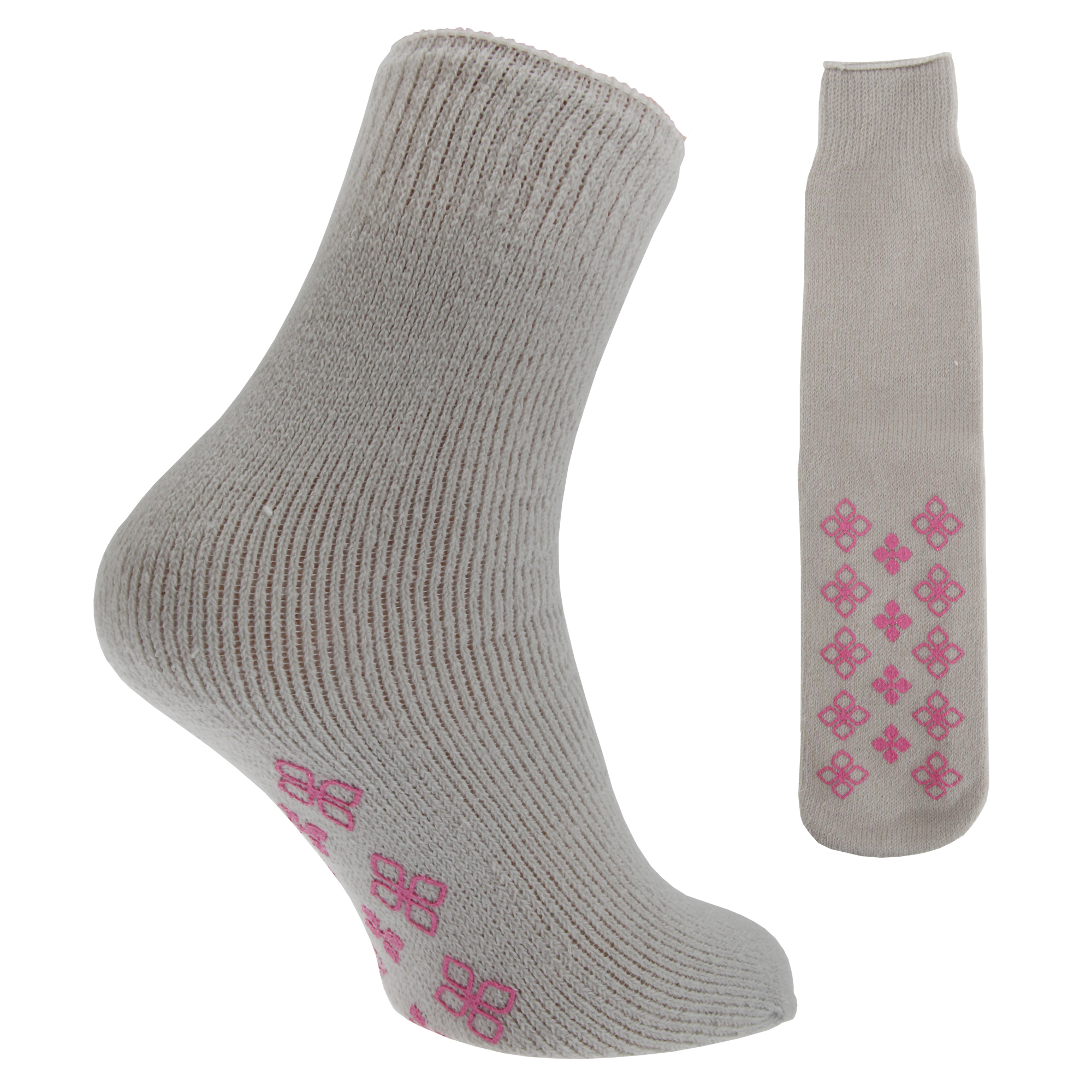 Ladies Slipper Socks. Made for loafing and lounging, our ladies' slipper socks are a cosy, snuggly alternative to 'proper' slippers, with chunky, thick fleece knits .