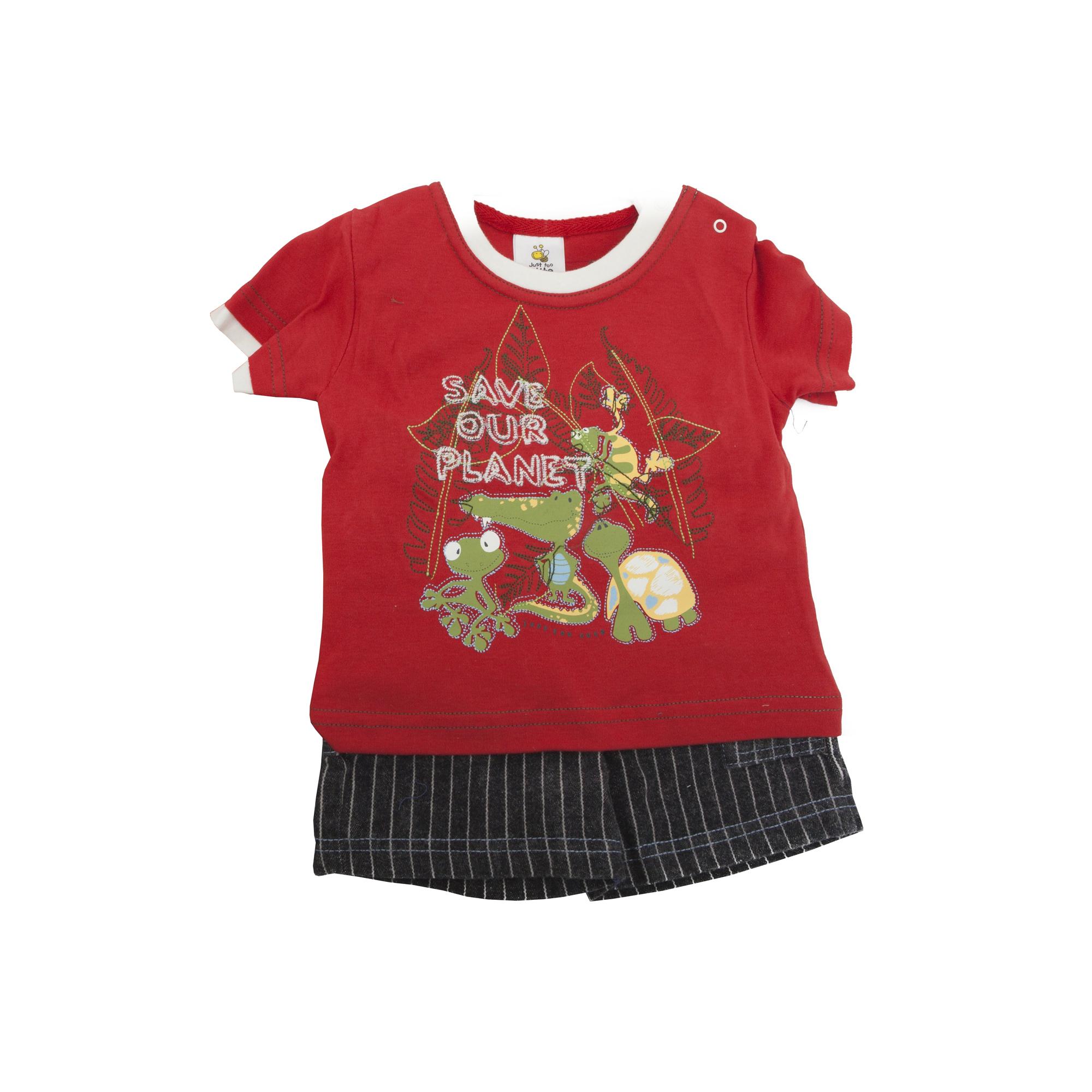 Conjunto-camiseta-de-manga-corta-pantalon-corto-para-bebe-nino-con-bordado-d