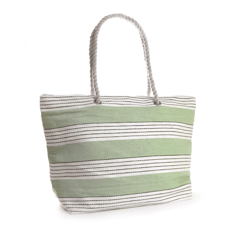 Pastel Stripe Rope Handle Tote/Shoulder Top Handle Summer Shopping ...