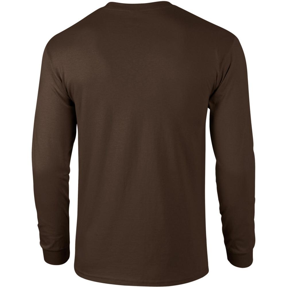 Gildan Mens Plain Crew Neck Ultra Cotton Long Sleeve T-Shirt   eBay