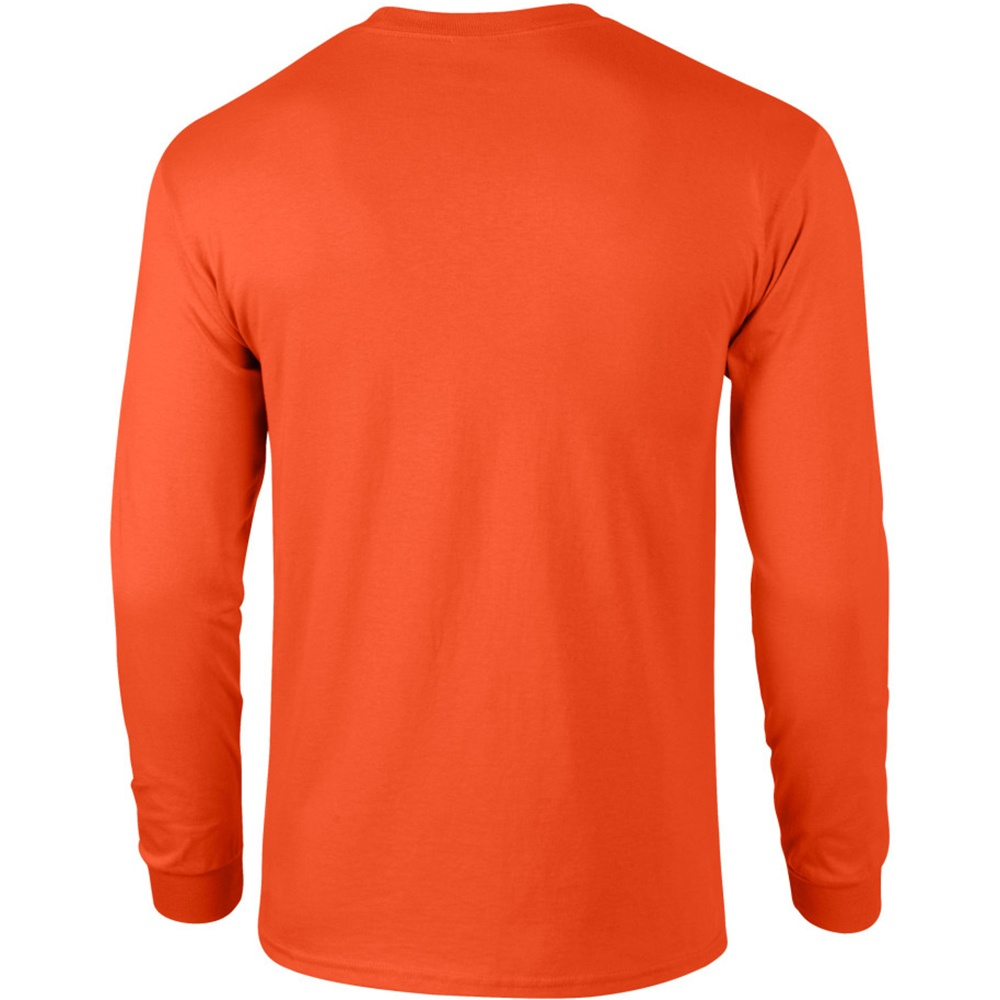 Gildan Mens Plain Crew Neck Ultra Cotton Long Sleeve T-Shirt | eBay