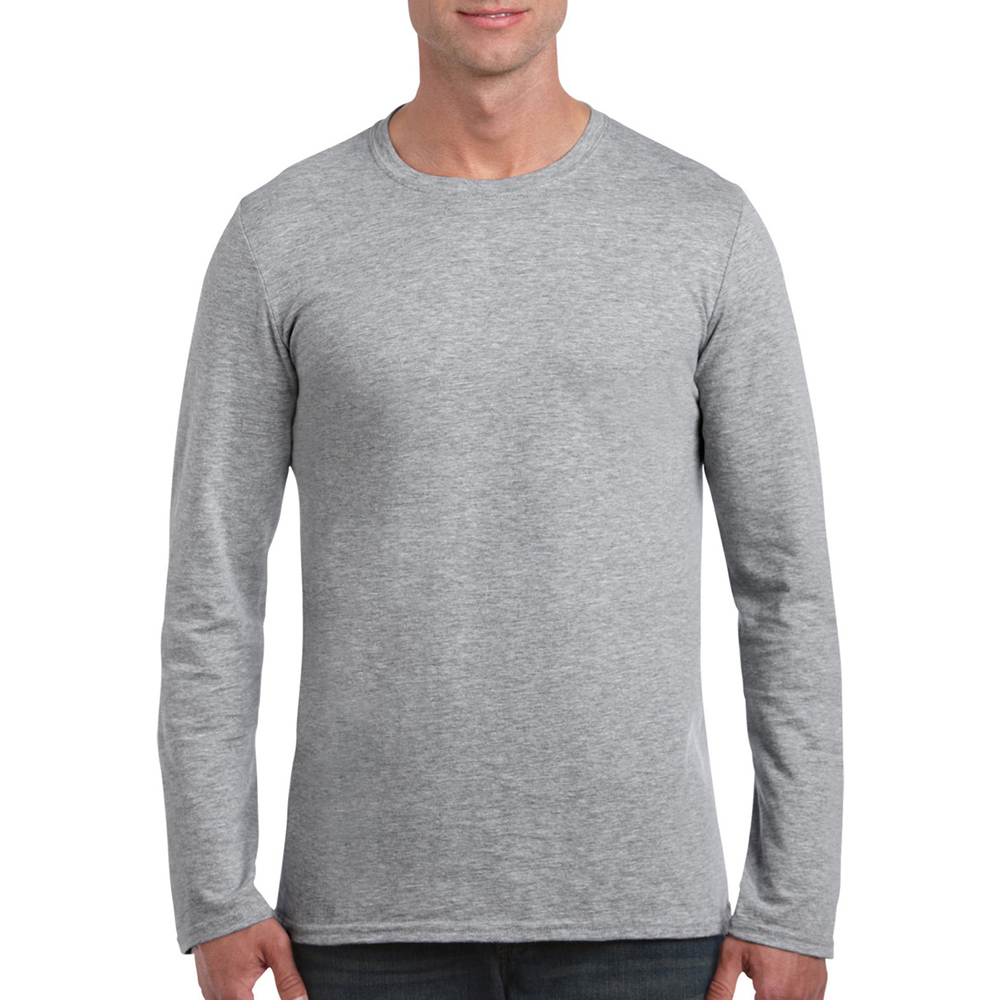 Gildan mens soft style plain basic casual cotton long for What is a long sleeve t shirt