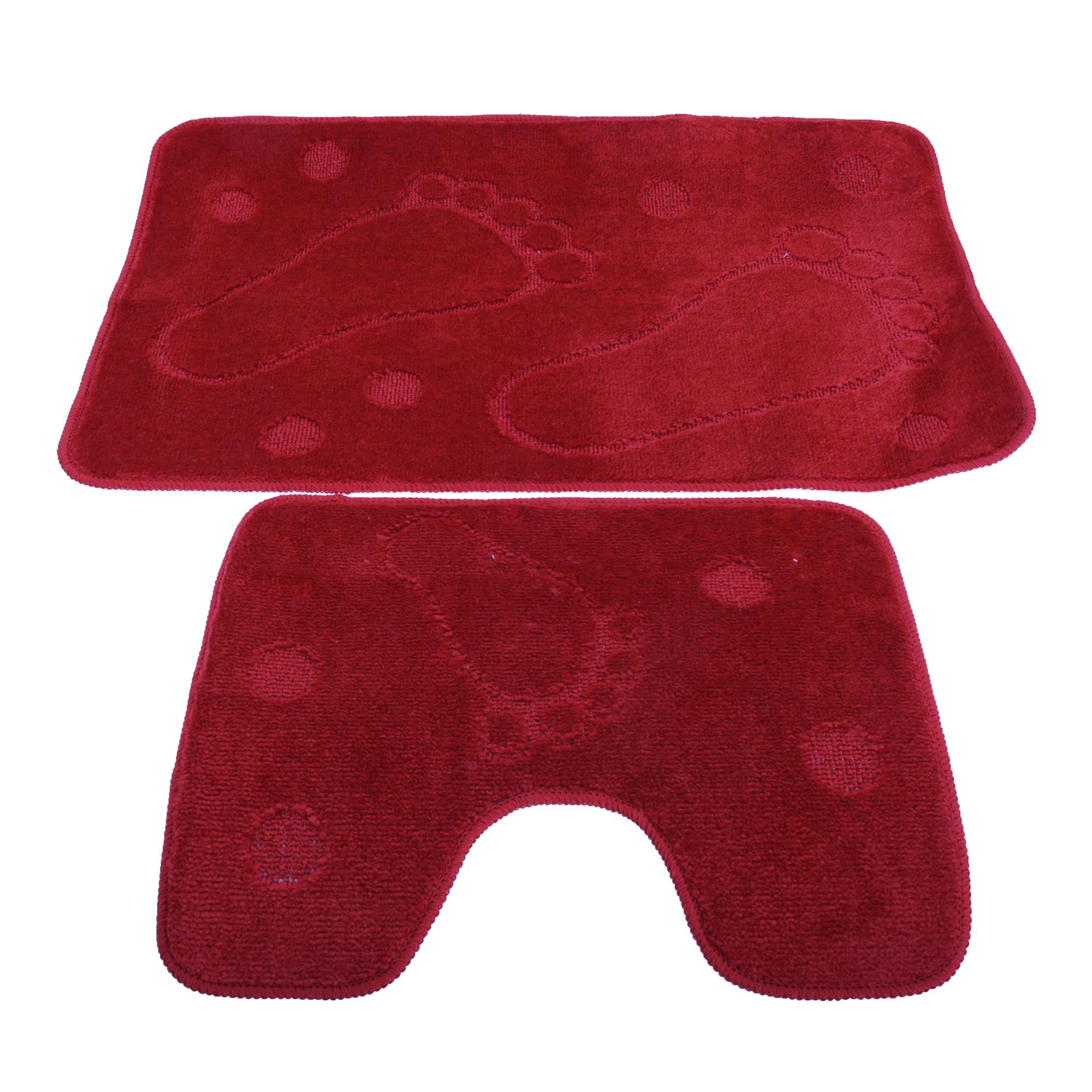 2 pezzi impronta design per bagno tappetino da bagno e - Pezzi per bagno ...