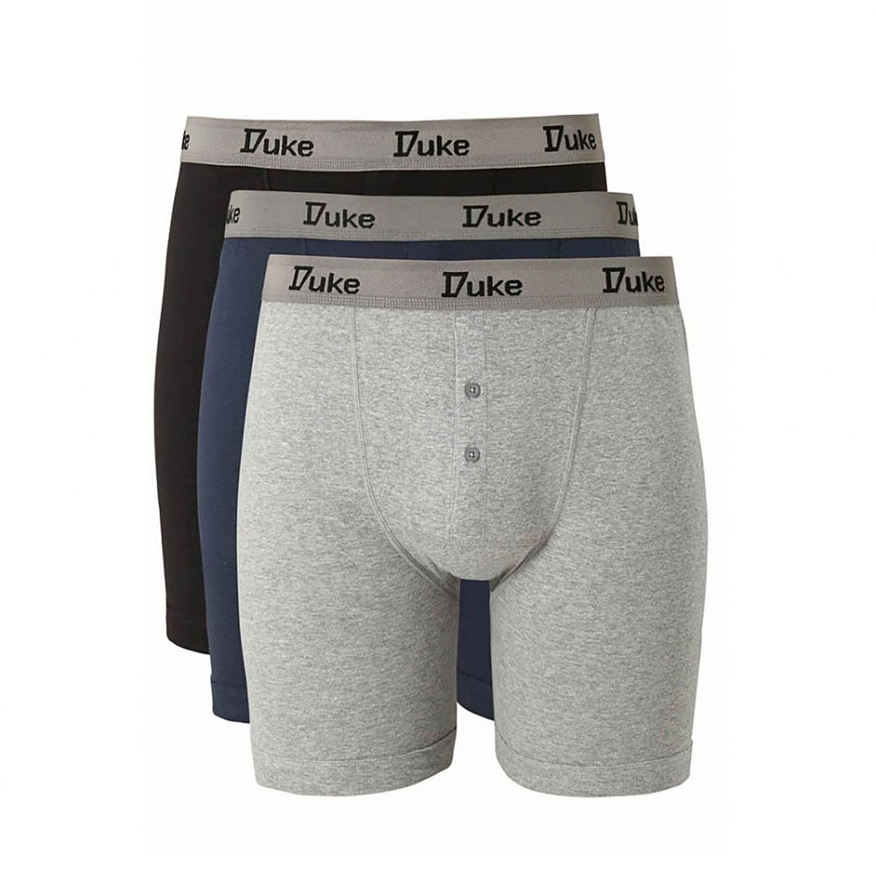 Duke-London-Mens-Driver-Kingsize-Cotton-Boxer-Shorts-Pack-Of-3