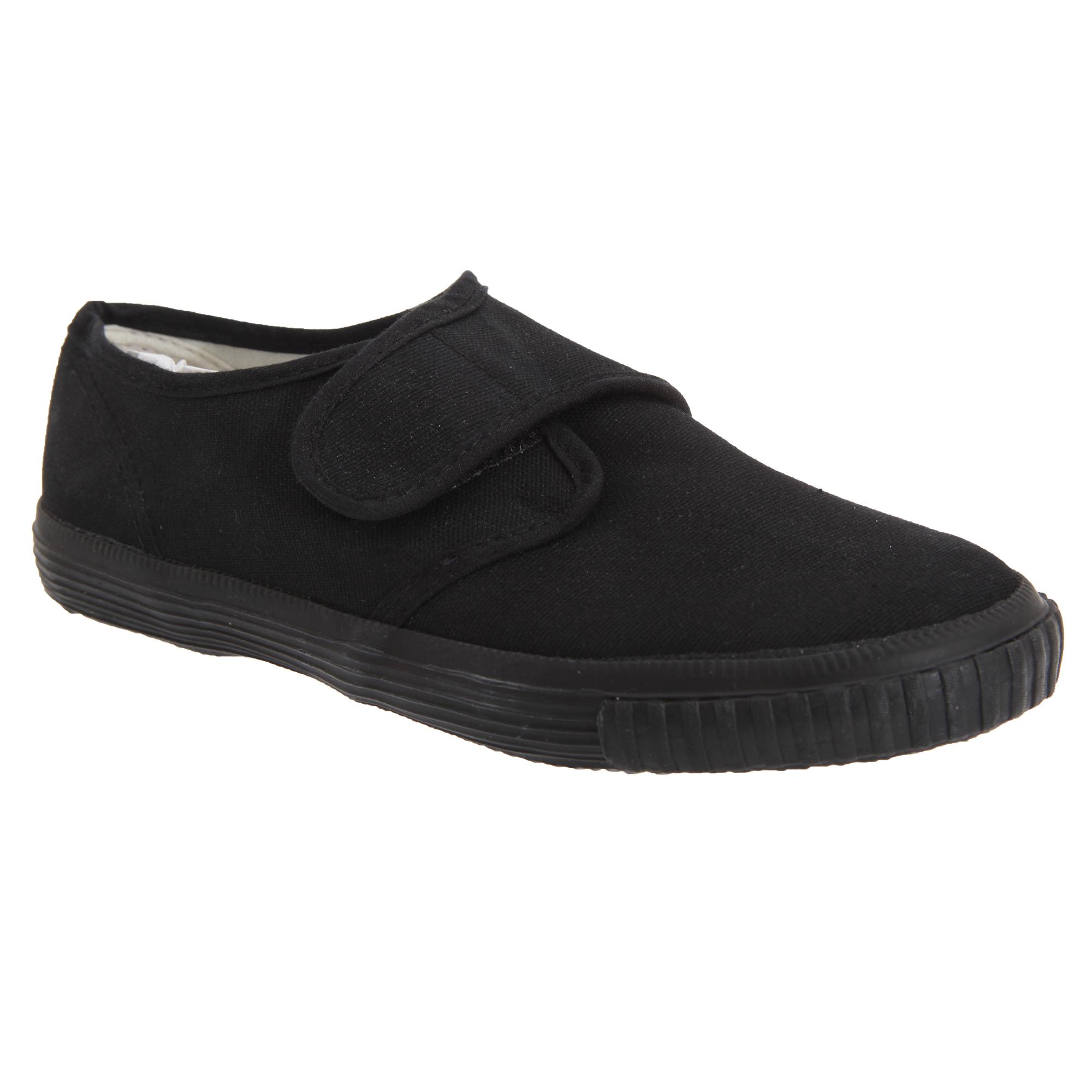 Dek Niños Unisex Junior Cierre Táctil Negro Lona Zapatillas De Tenis