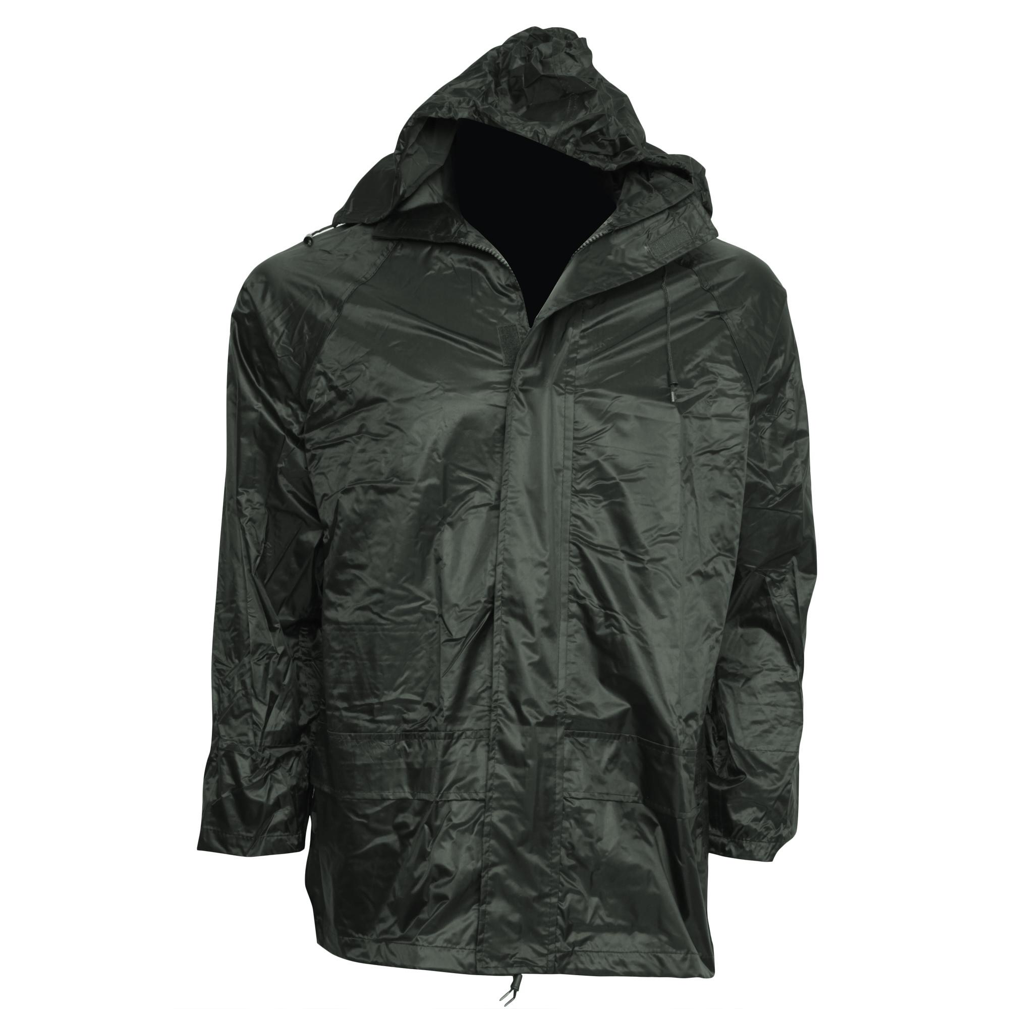 Mens Waterproof Hooded Zip Up Lightweight Outdoor Rain Coat /Jacket Sizes S-2XL   EBay