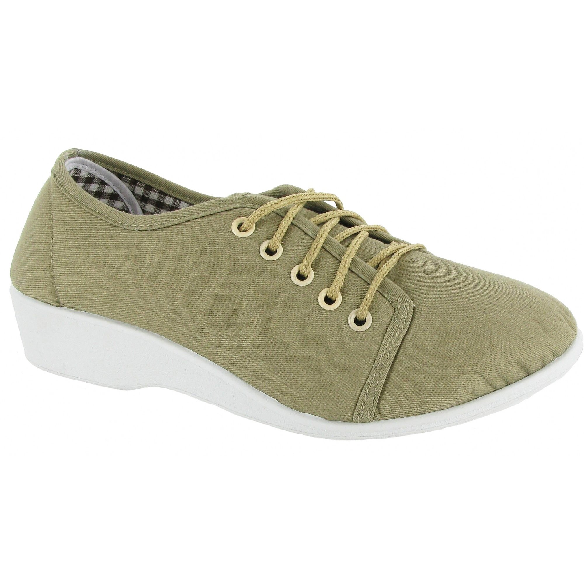 Canvas Lace Up Shoes For Womens