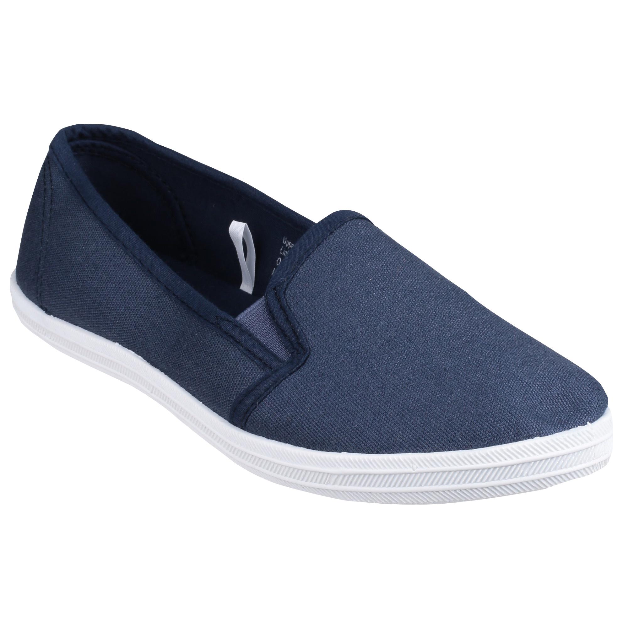 Divaz - Zapatos de lona con cordones mujer , color negro, talla 40 EU