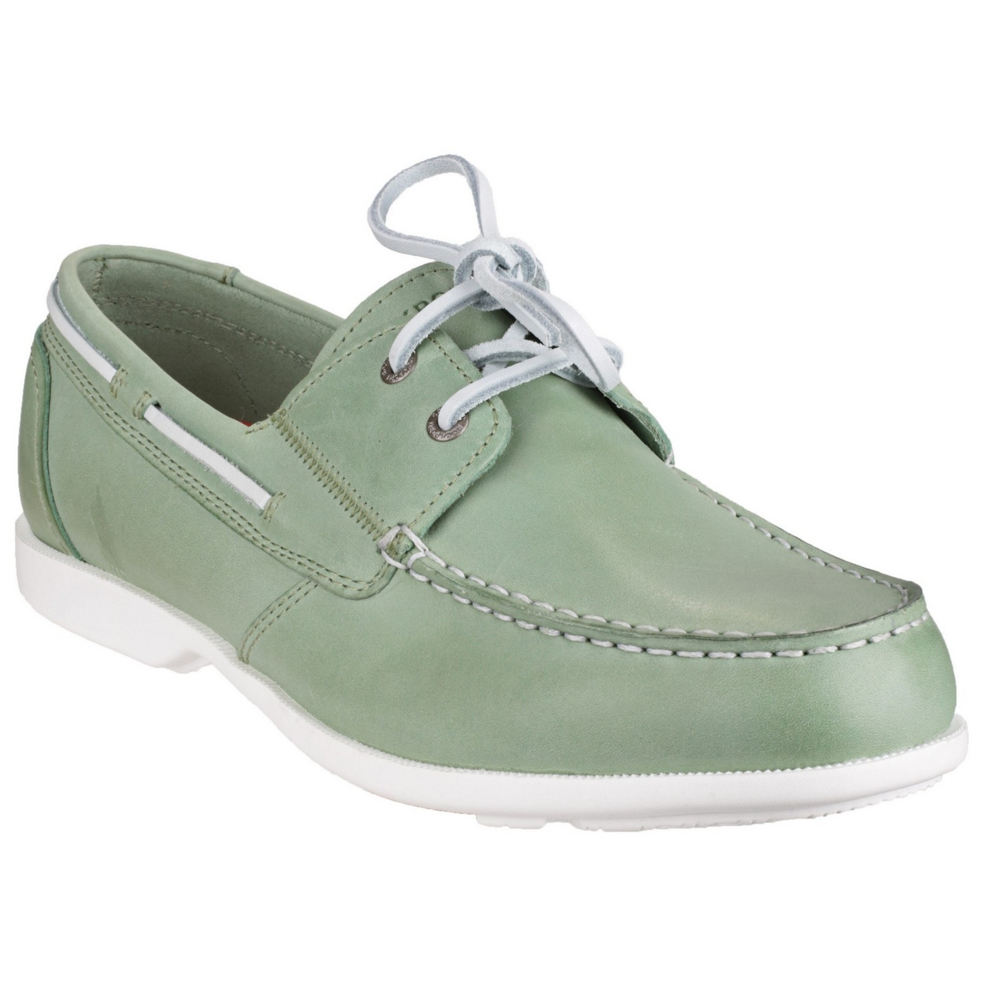 Rockport Mens Summer Sea II Leather Boat Shoes