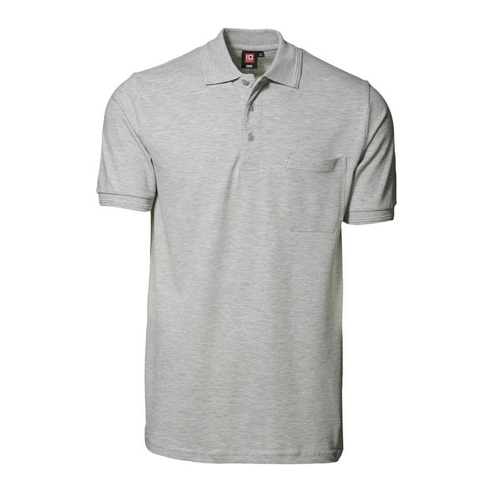 ID Mens Classic Short Sleeve Pique Polo Shirt With Pocket ...