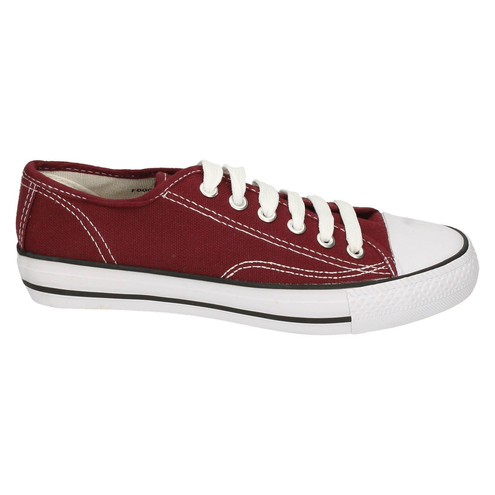 Spot on Para Niños/Niños Corte Bajo Zapatos De Lona Con Cordones