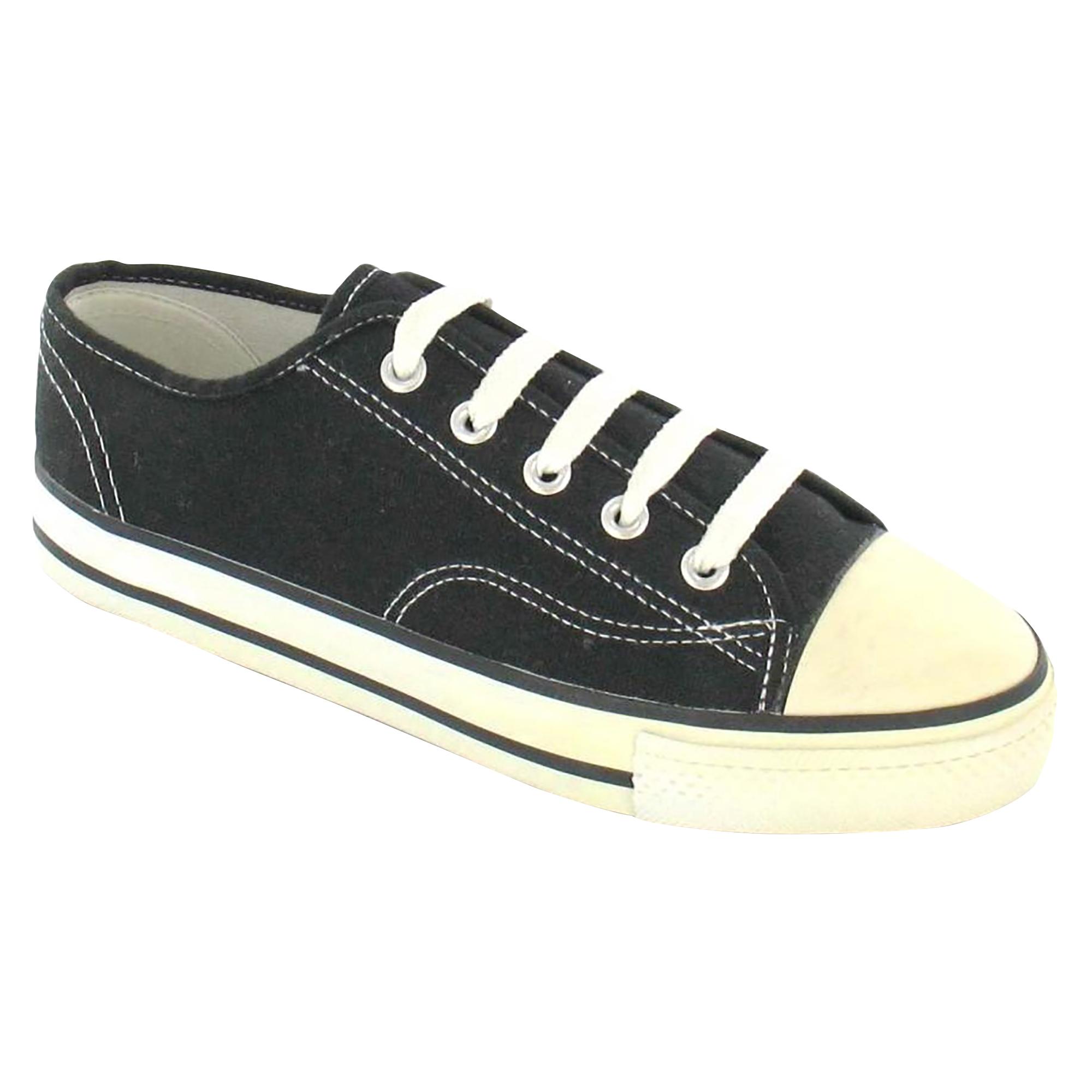 Mujer Spot On De Baja Lona Con Cordones Puntera Baja De Zapatillas /  zapatos  de diario 388320