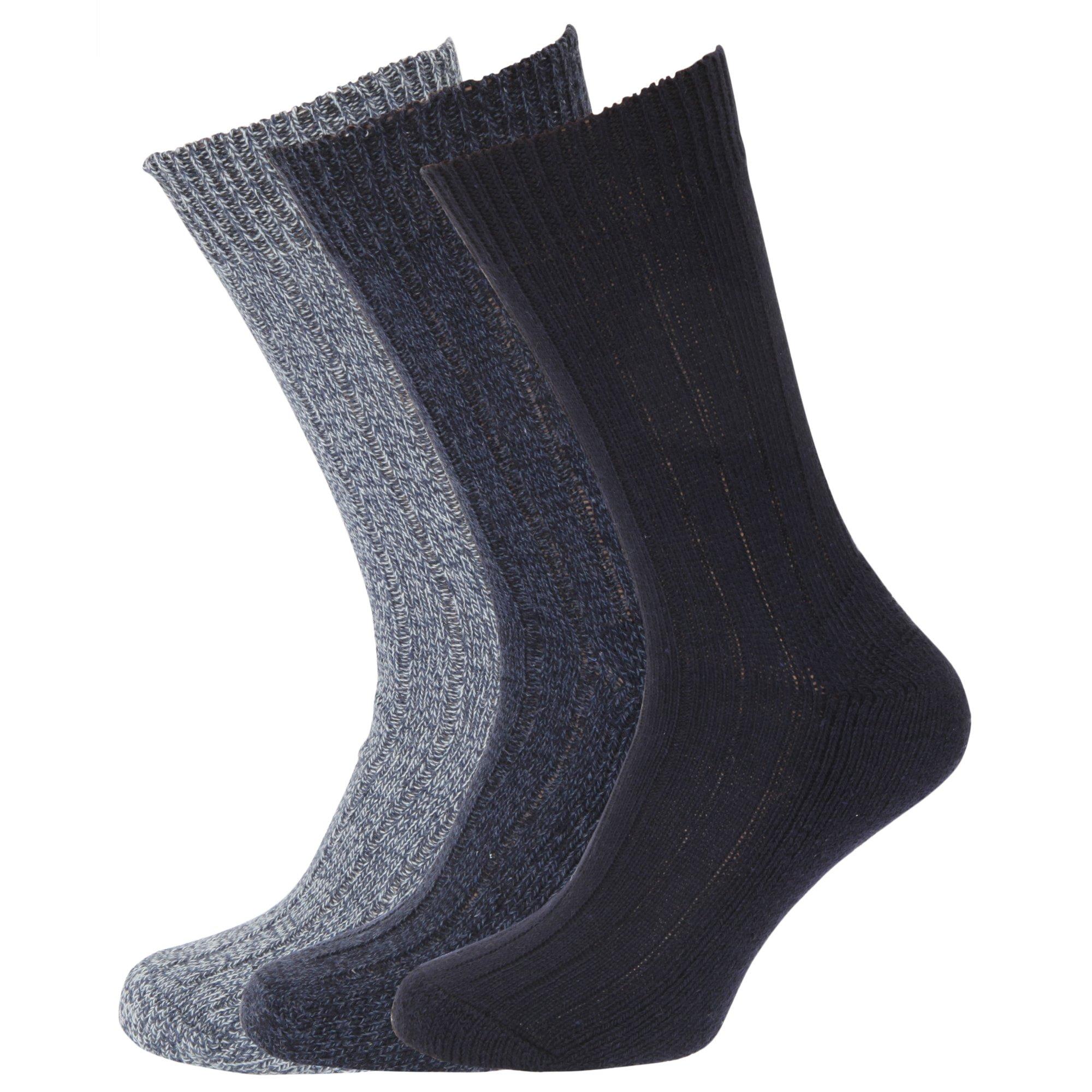 Calcetines para hombre Mezcla de Lana (paquete de 3)