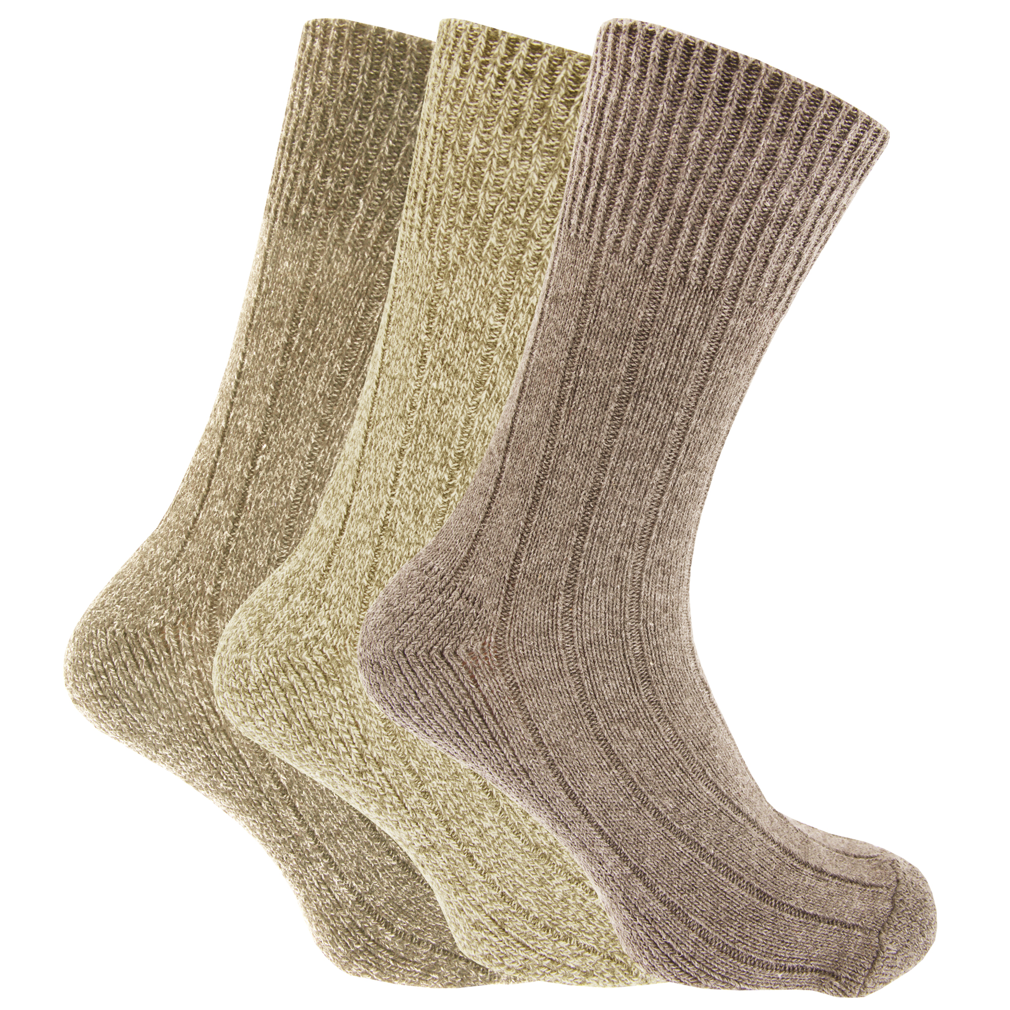 Merino wool casual socks for men. Feature 4 Degree® double elastic for snug fit that stays put. Medium cushion for impact, won't itch or hold odor.