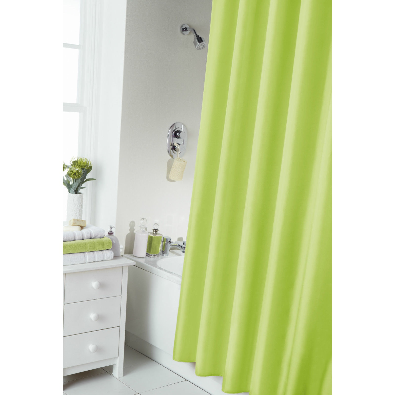 Cortinas de ba o lisas con anillas ms172 ebay for Anillas plastico para cortinas