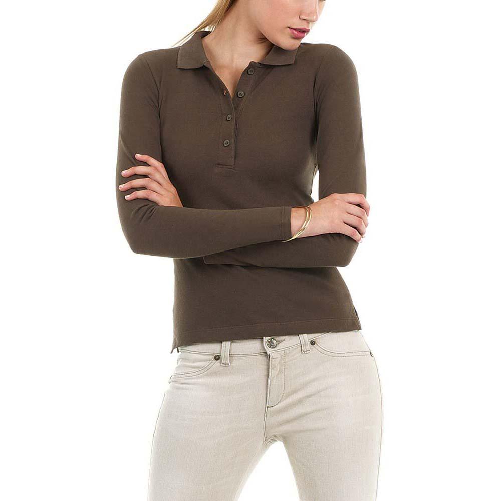 B c womens ladies safran long sleeve polo shirt rw3008 for Women s long sleeve polo shirts sale