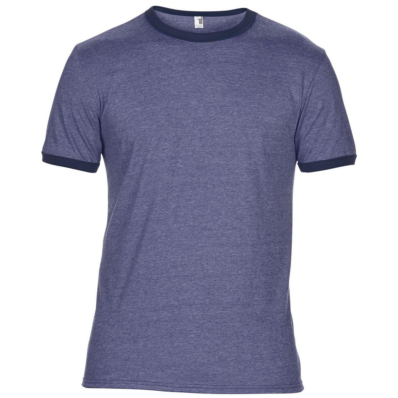 Anvil Mens Plain Lightweight Ringer T-Shirt | eBay