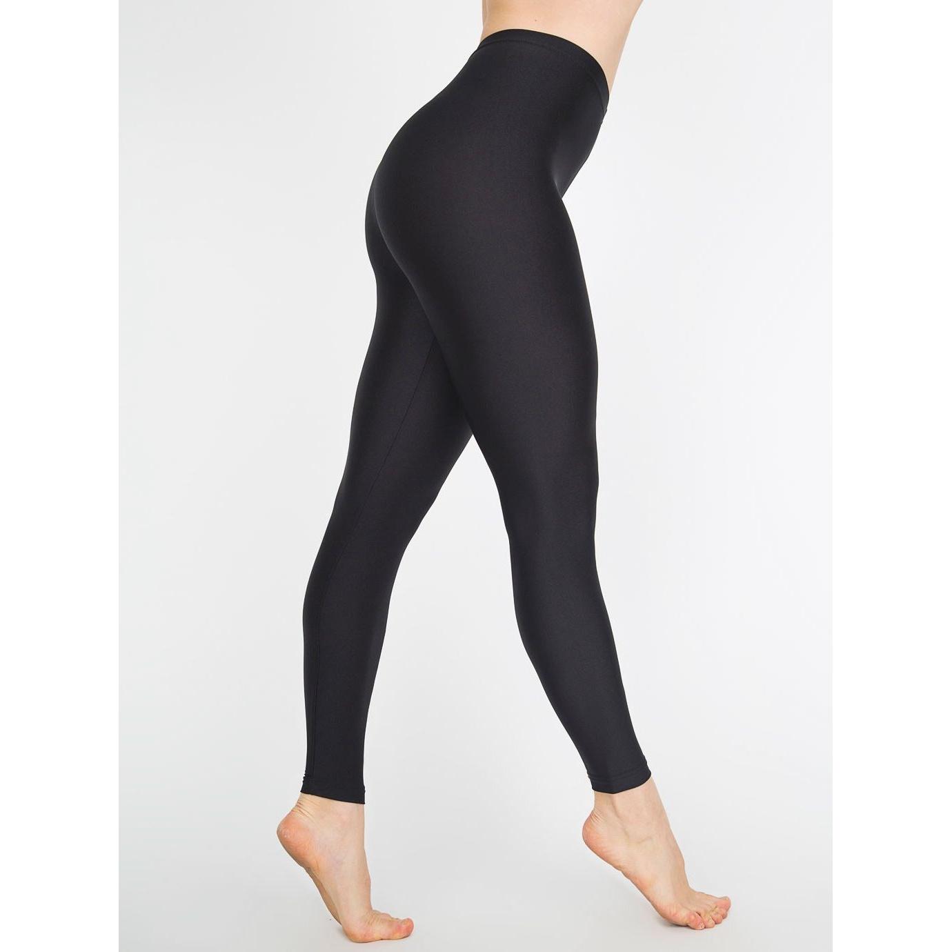 Fitness Leggings Amazon Uk: American Apparel Womens/Ladies Plain Shiny Nylon Leggings