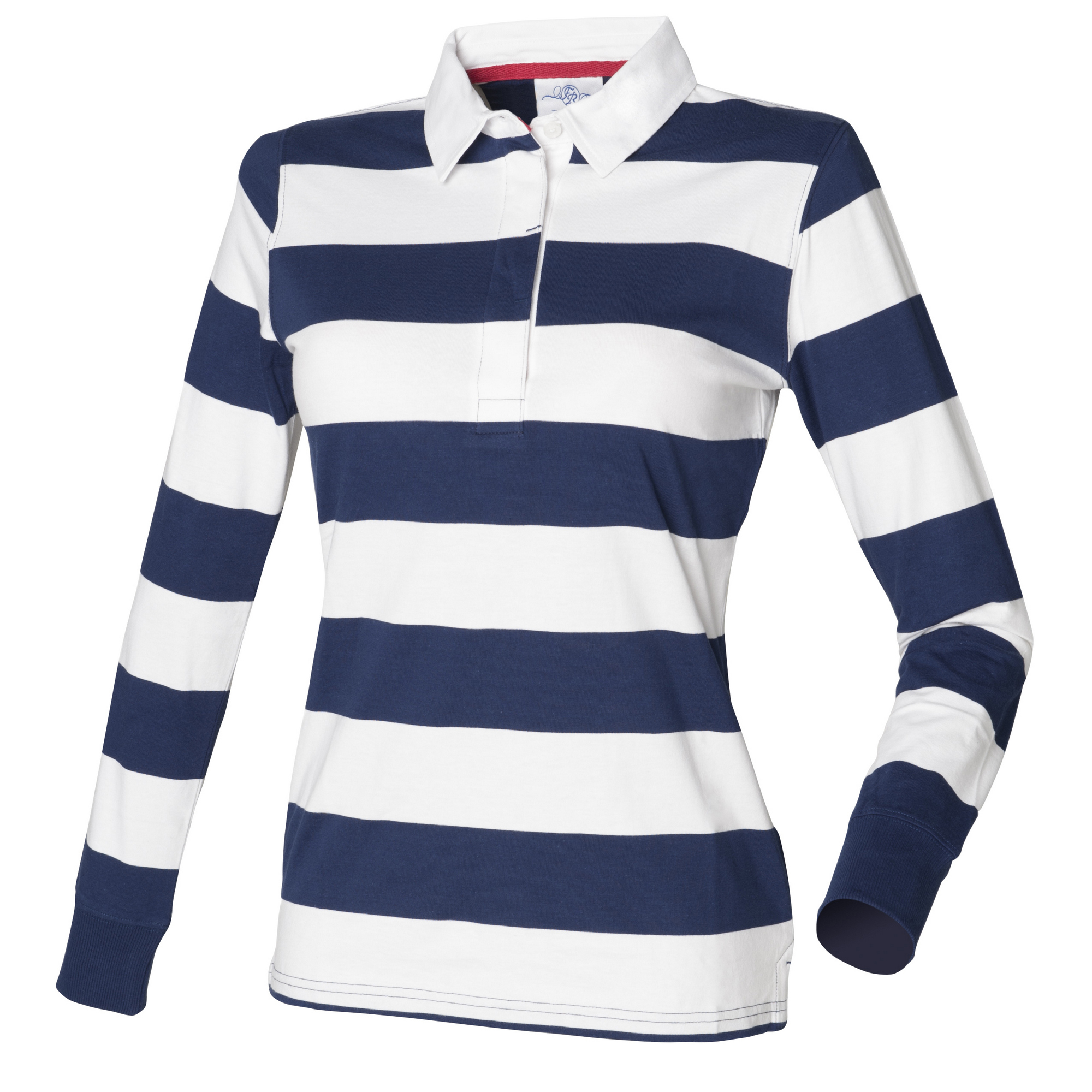 Front Row Womens/Ladies Striped Rugby Polo Shirt   eBay